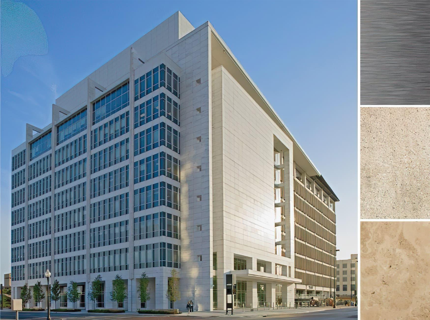 George L. Allen Sr. Courts Building. Civic Design, Workplace Design. Dallas, Texas.