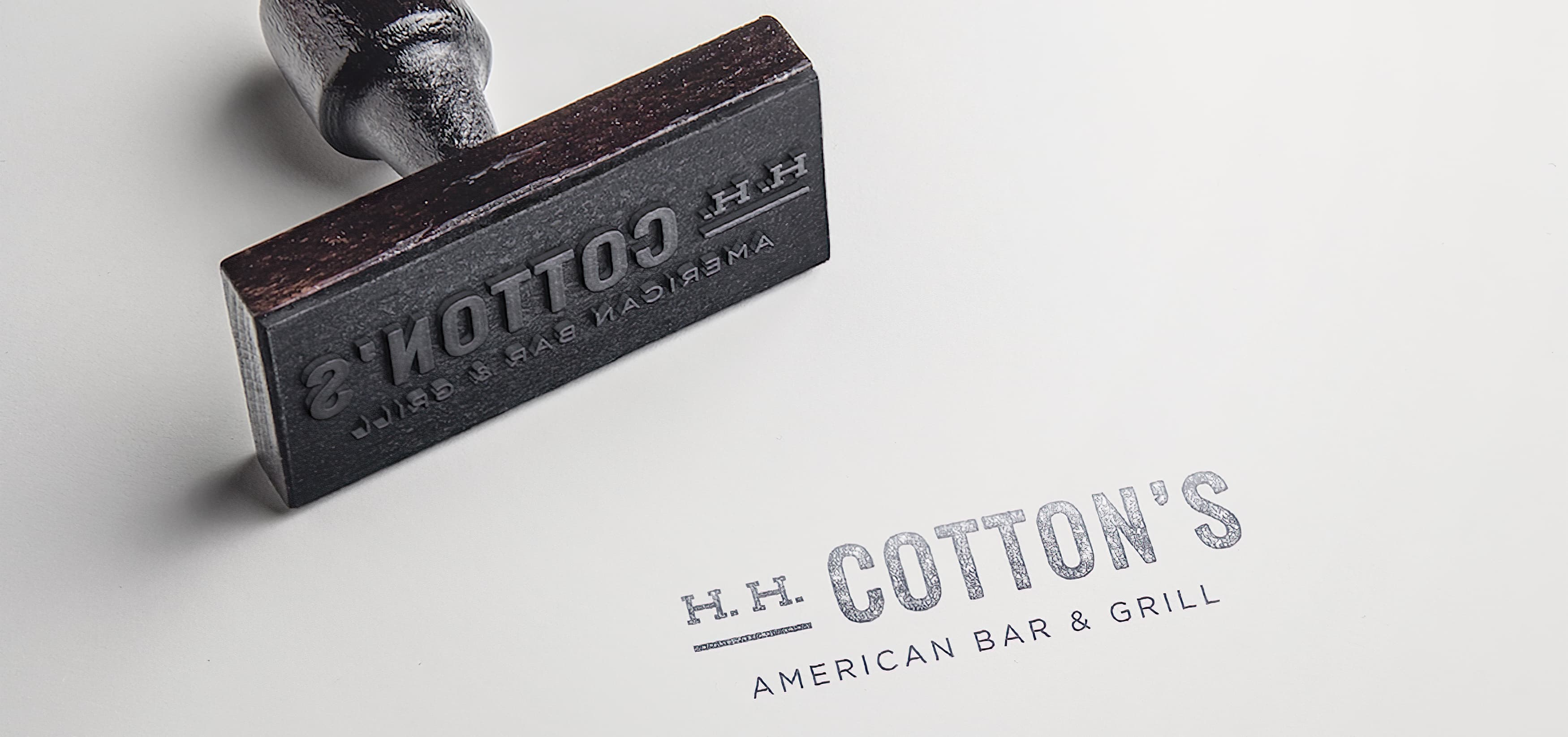 RSM Design worked with H.H. Cotton's, a restaurant in San Clemente, California to create a logo and brand identity as well as environmental graphics and signage.