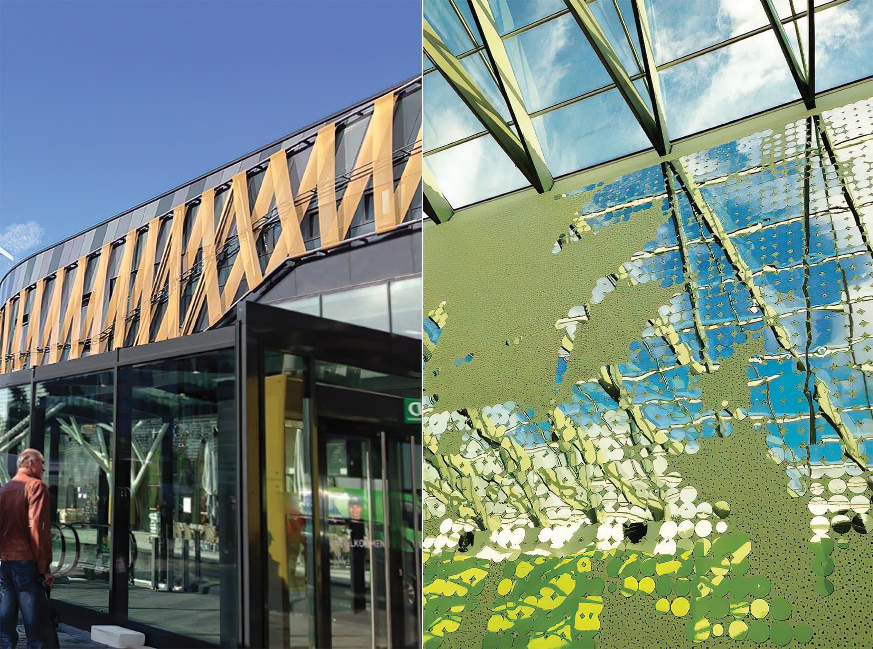 Hofgarten, a retail project in Solingen Germany, environmental graphic design and architectural design