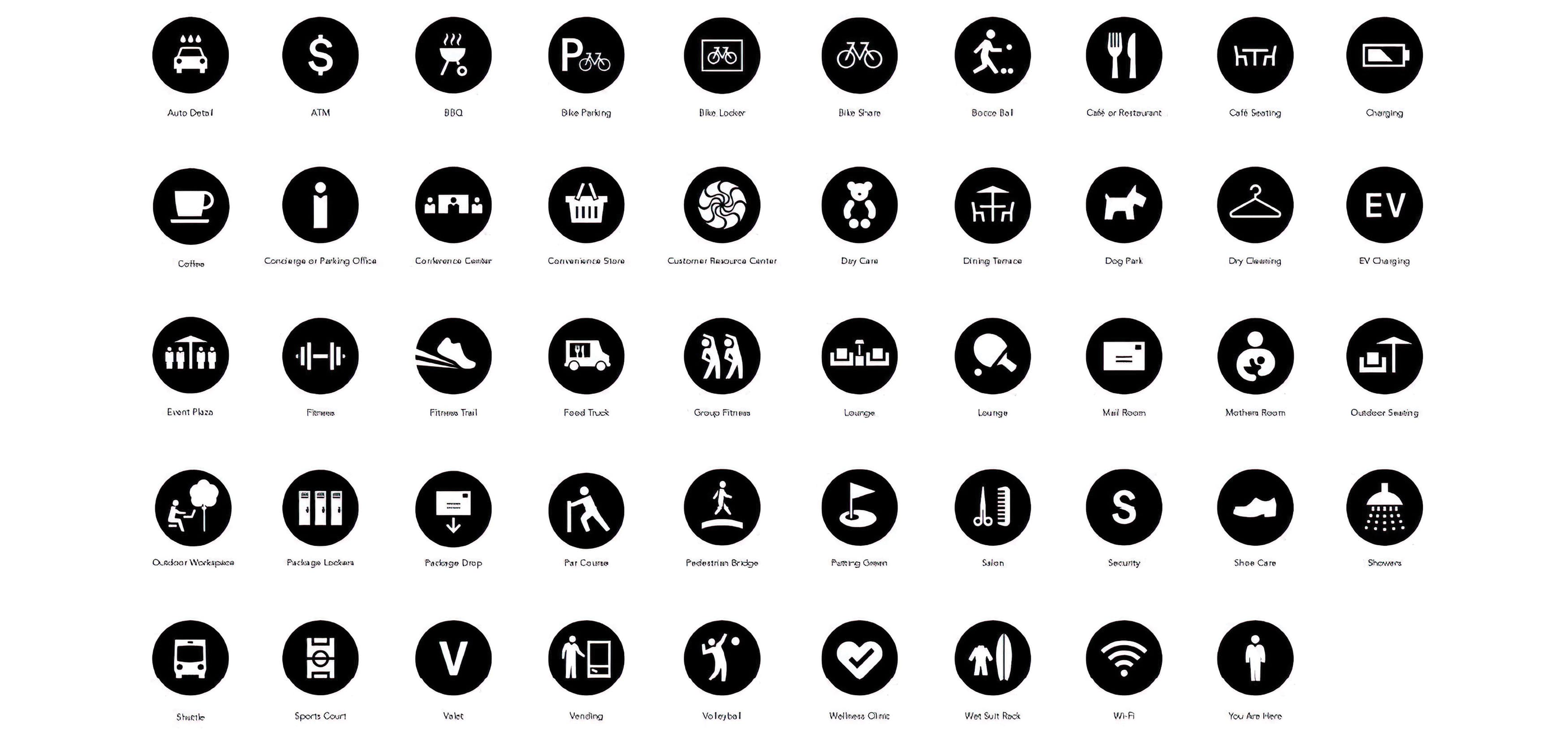 Irvine Company brand standards and guidelines icons