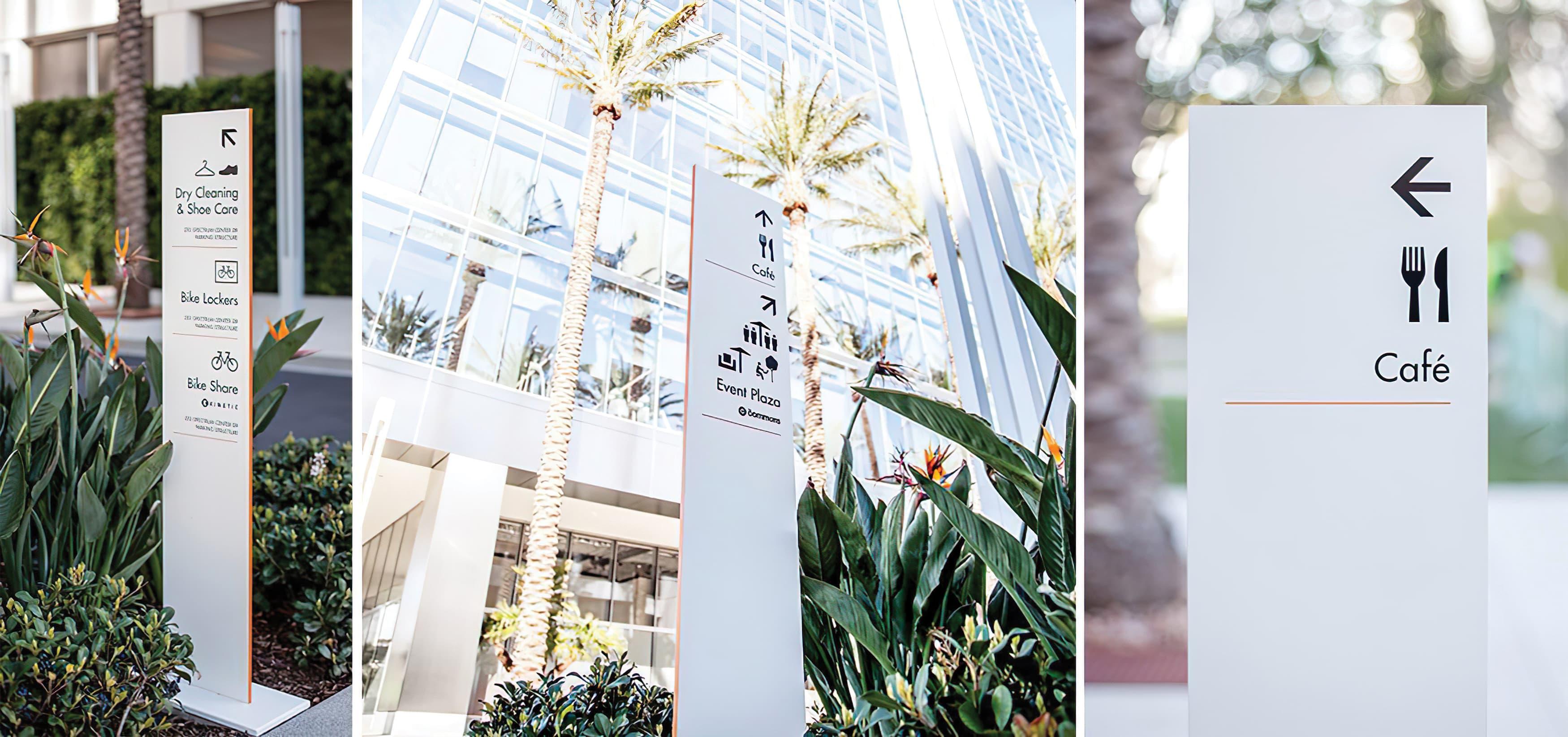 1 Park Plaza, an Irvine Company workplace, Pedestrian wayfinding directional sign.