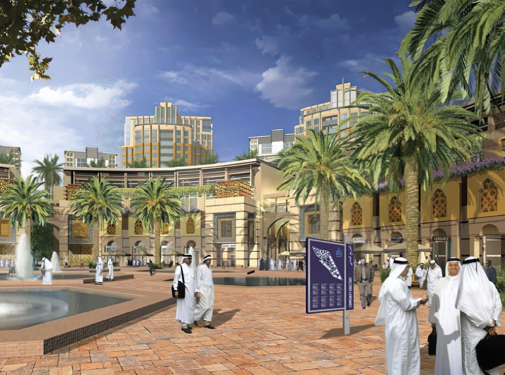 Jeddah Gate, a large master-planned downtown community. Pedestrian Wayfinding Design.