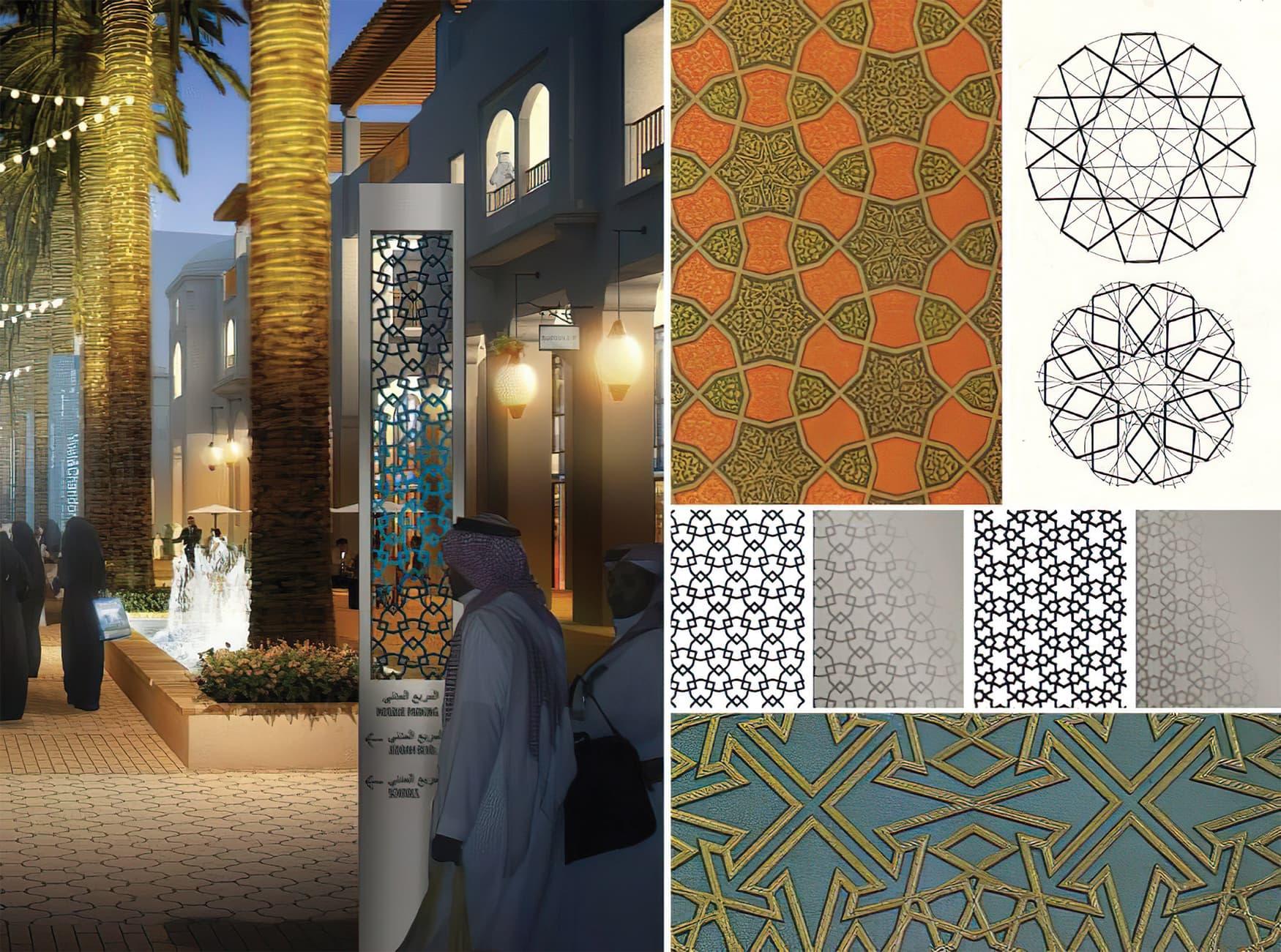 Jeddah Gate, a large master-planned downtown community. Pattern Design.