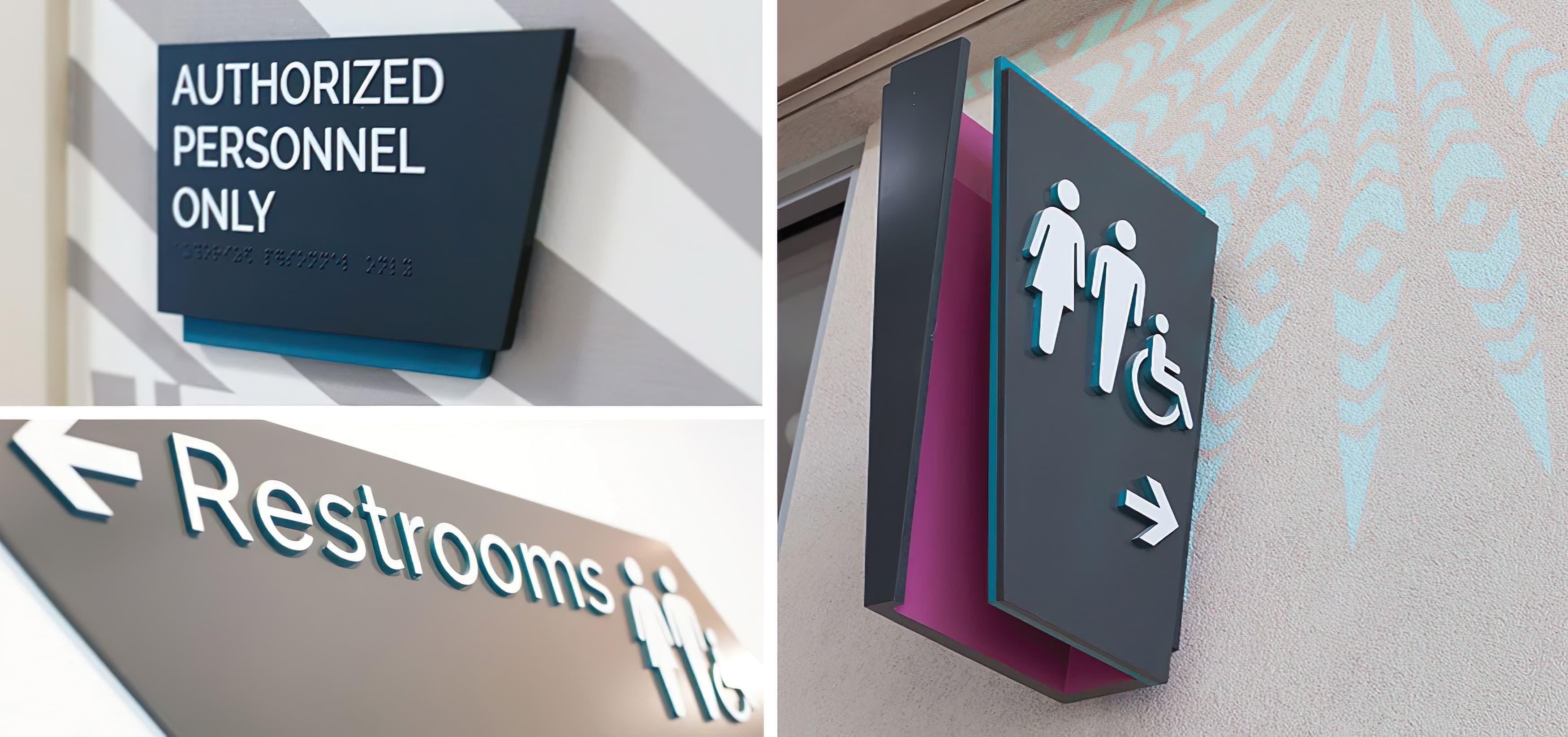 Ka Makana Ali'i, a shopping center outside Honolulu, Hawaii. RSM Design. Signage and Wayfinding Design. Restroom Signage.