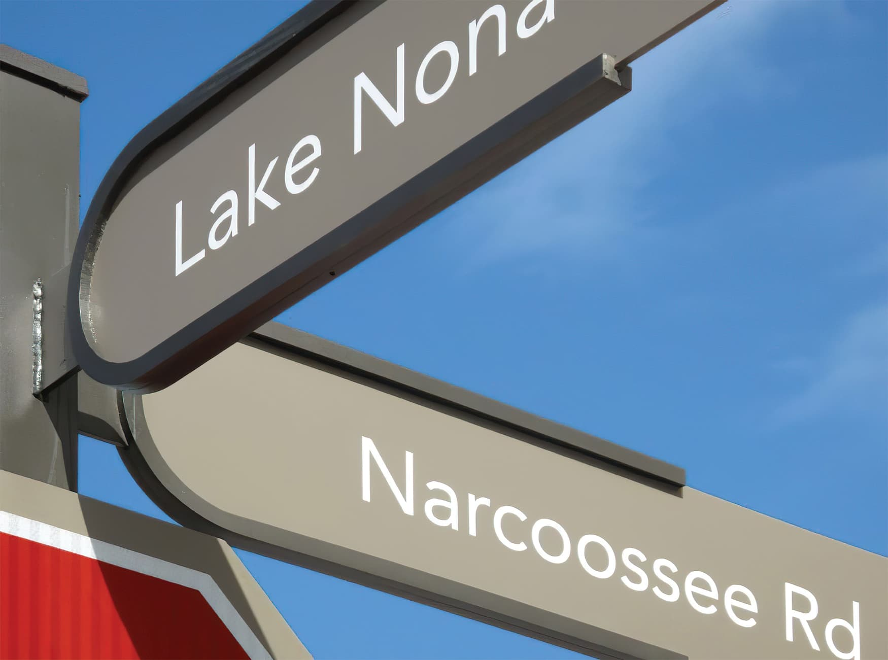 Lake Nona, a residential community outside Orlando, Florida. Wayfinding Signage.