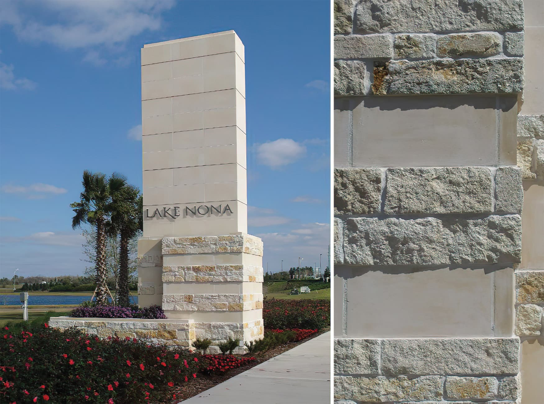 Lake Nona, a residential community outside Orlando, Florida. Project Identity Monument.