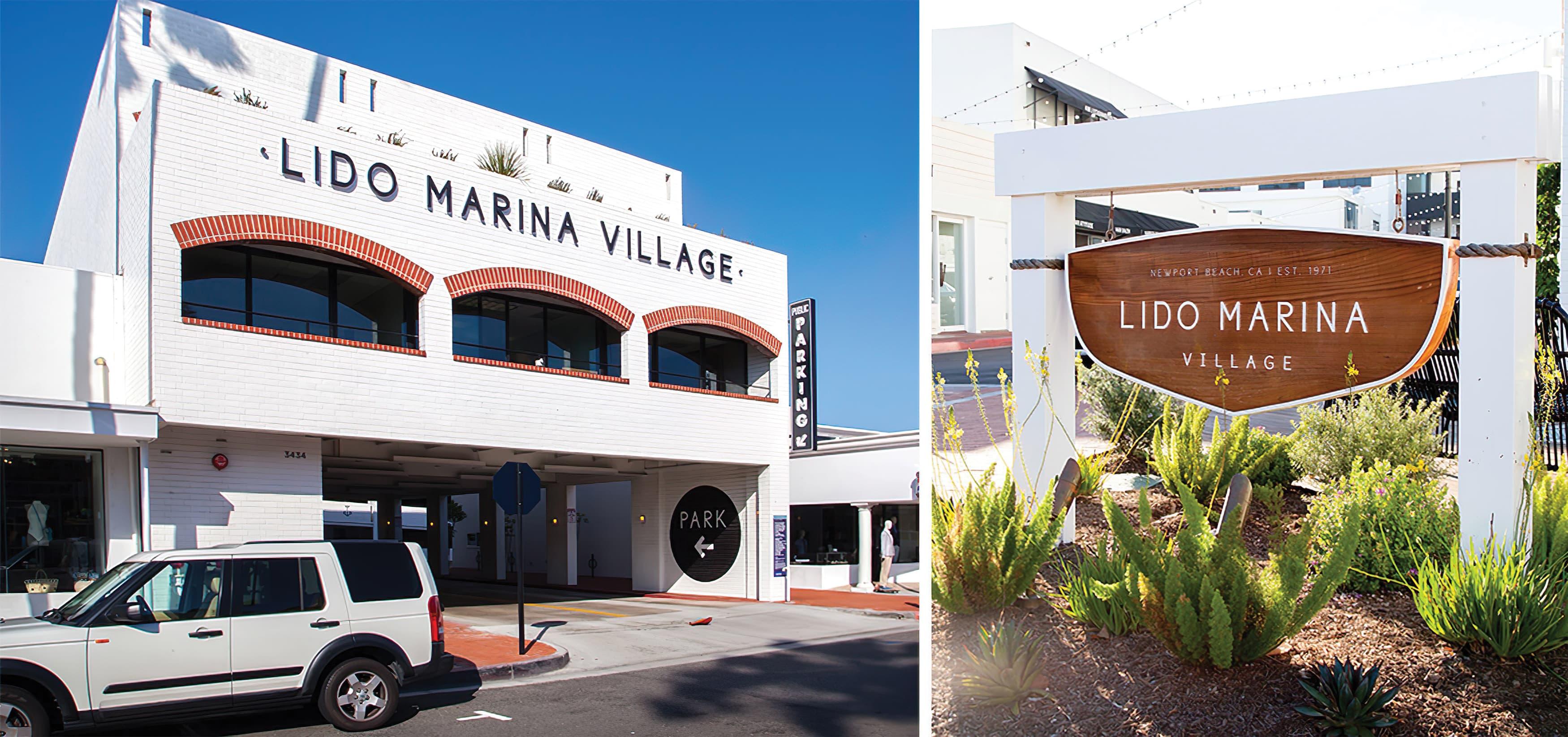 Lido Marina Village Newport Beach Graphic Architecture and Identity Signage