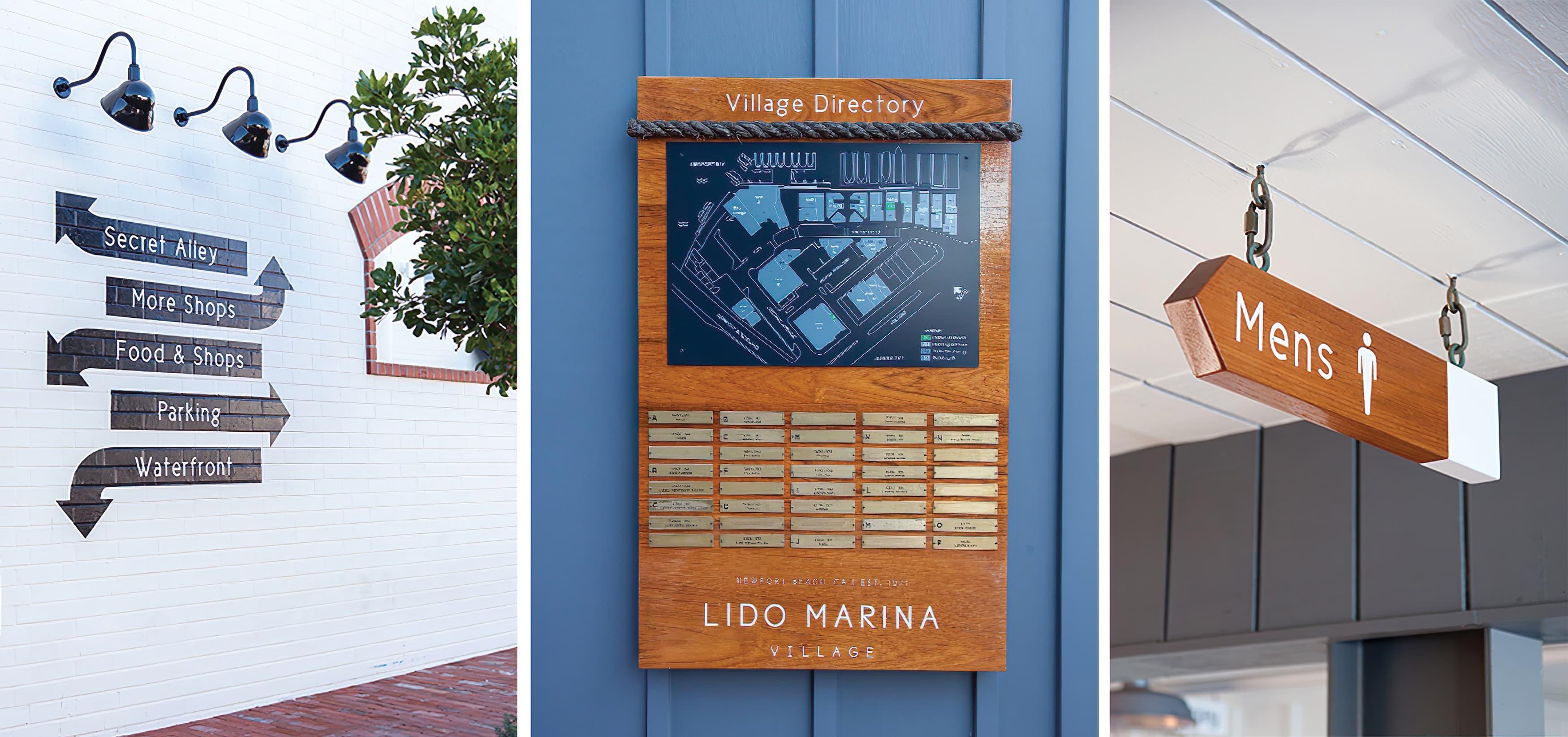 Lido Marina Village Newport Beach Pedestrian Wayfinding Design