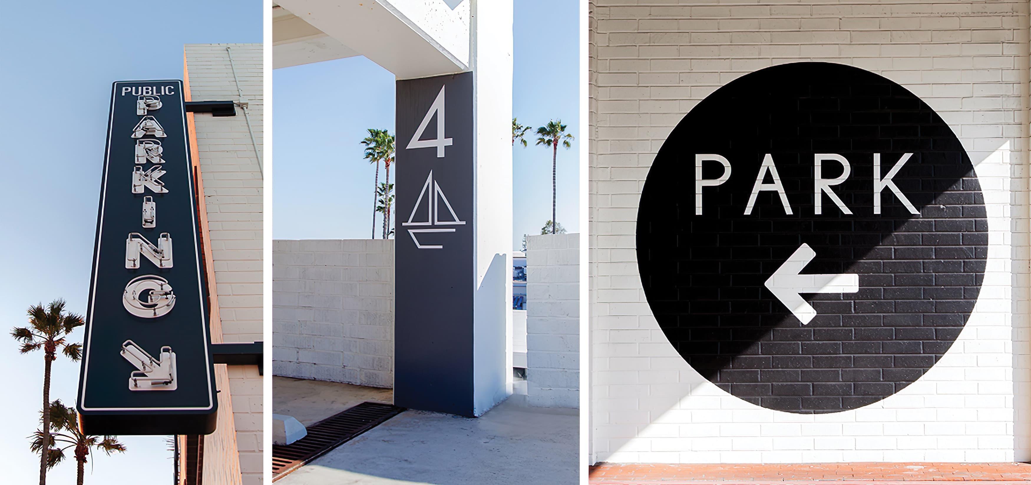 Lido Marina Village Newport Beach exposed neon parking identity sign