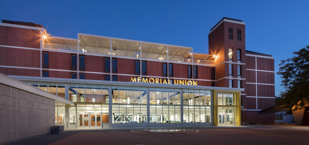 Memorial Union, located at the University of California, Davis. Education Design. Campus Design. Wayfinding and Environmental Graphics. Canopy Signage.