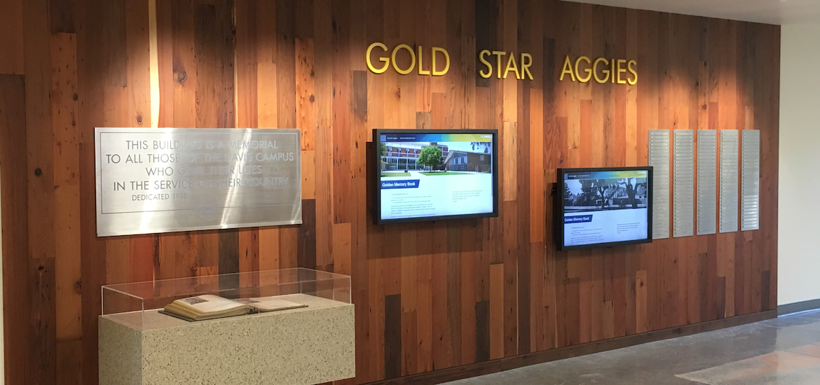 Memorial Union, located at the University of California, Davis. Education Design. Campus Design. Wayfinding and Environmental Graphics. Donor Recognition Signage.