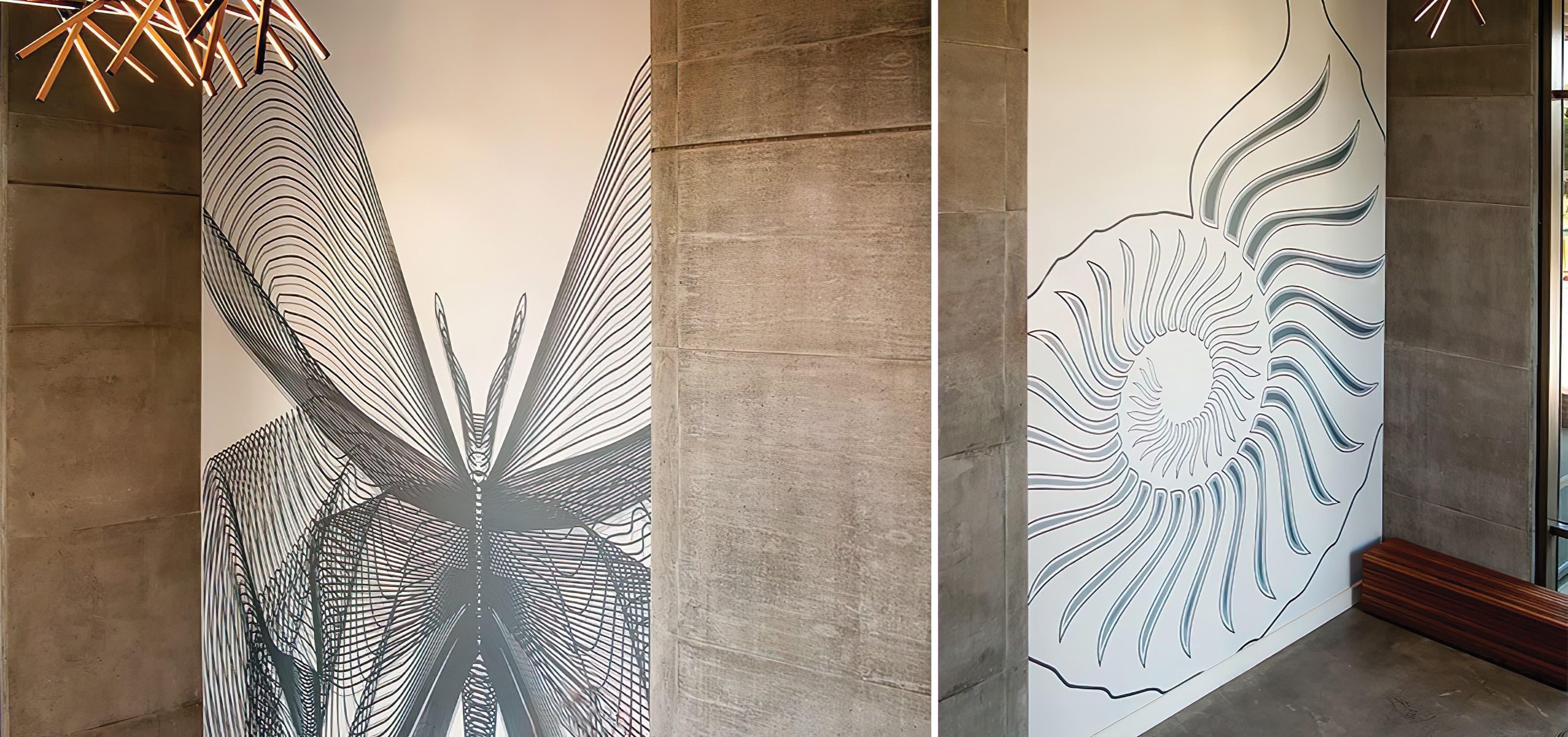 Mesa Court, located in University of California, Irvine campus. On-campus residential buildings. Mural and Public Art Design.