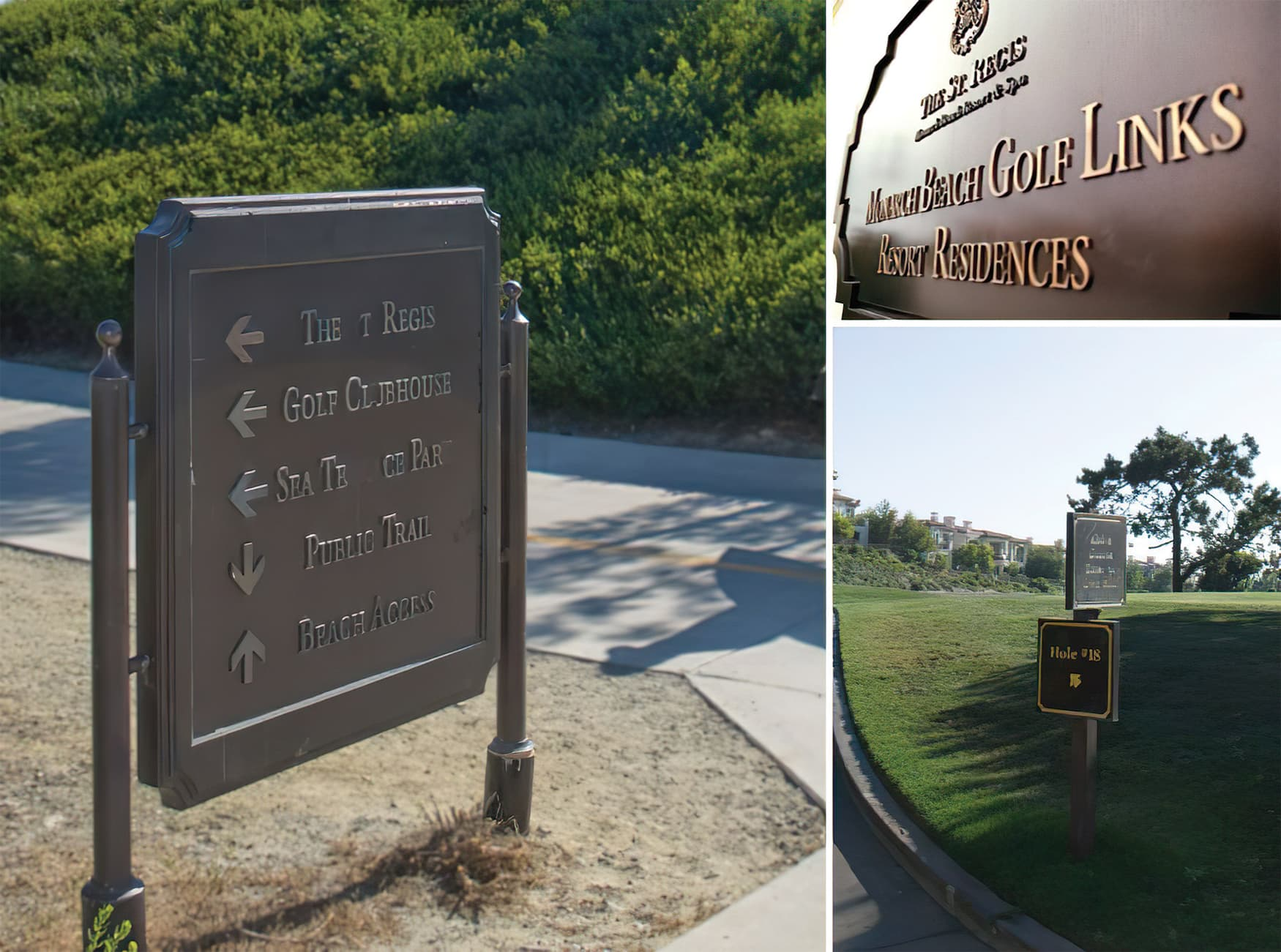 Monarch Beach Masterplan. City of Dana Point, California. Civic Design, Residential Community Signage, Park Wayfinding & Signage.