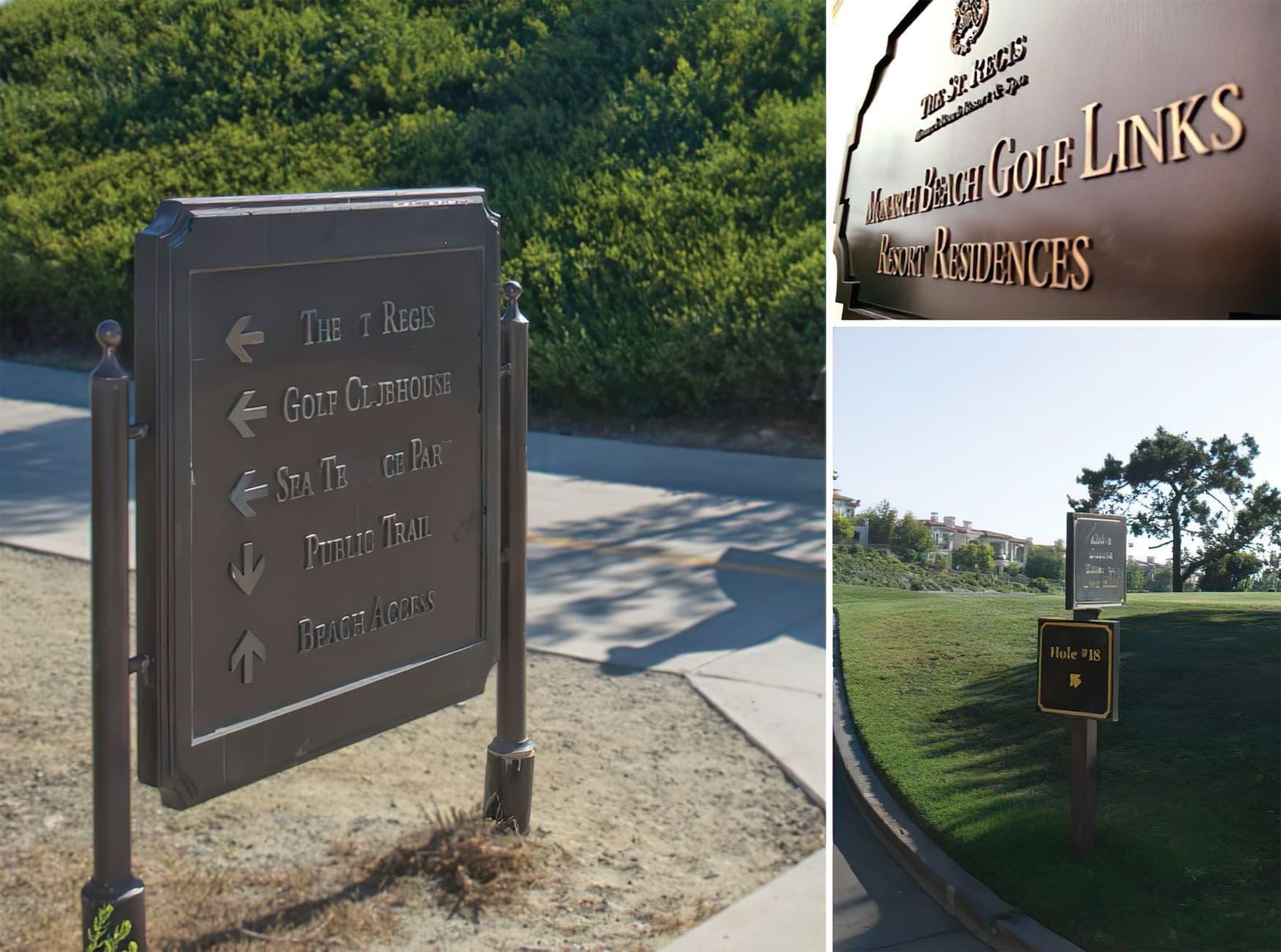 Monarch Beach Masterplan. City of Dana Point, California. Civic Design, Residential Community Signage, Park Wayfinding & Signage.
