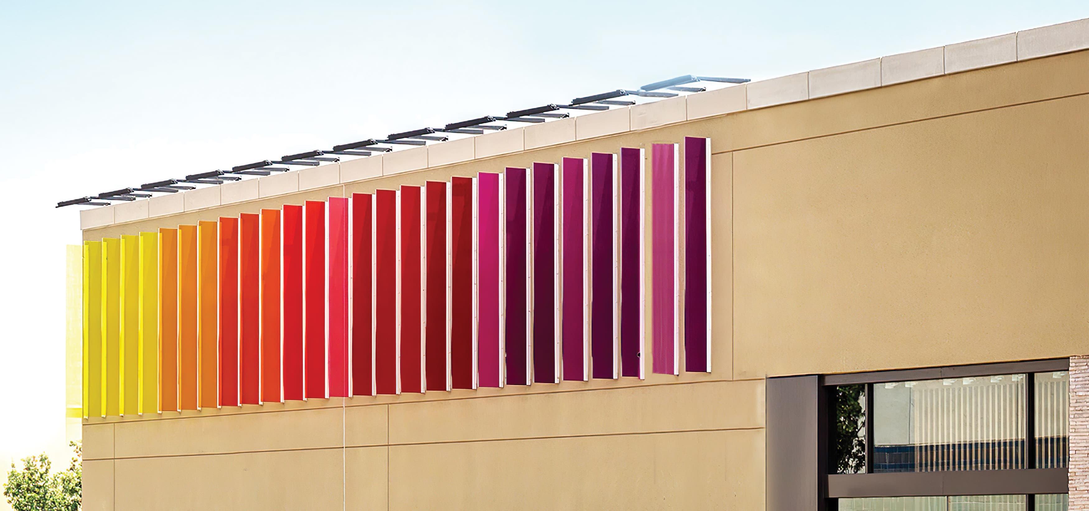 Monet Avenue shopping district architectural graphic design