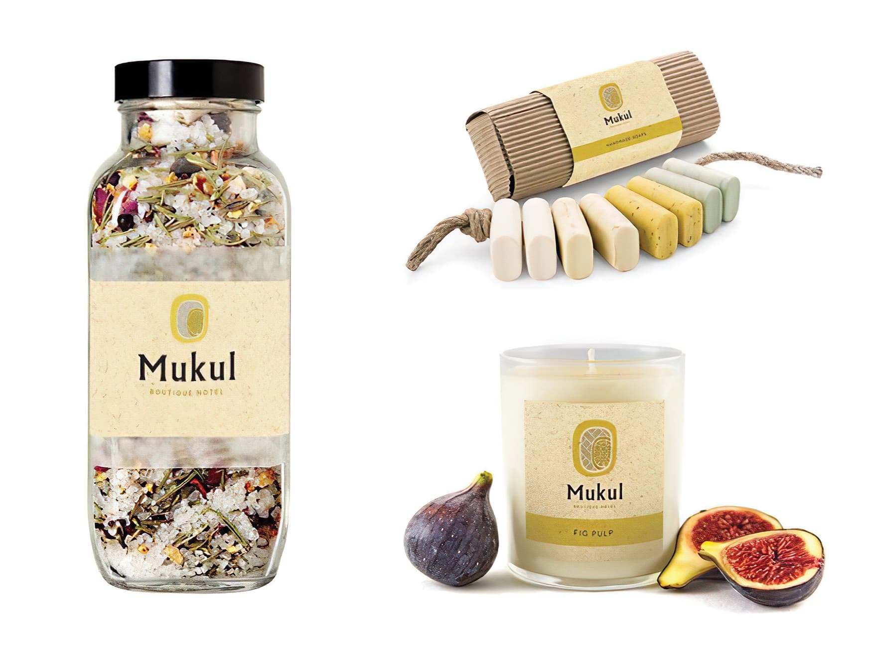 Mukul, a resort in Nicaragua, hired RSM Design to develop their Branding & Logo Design. Branded hospitality elements.