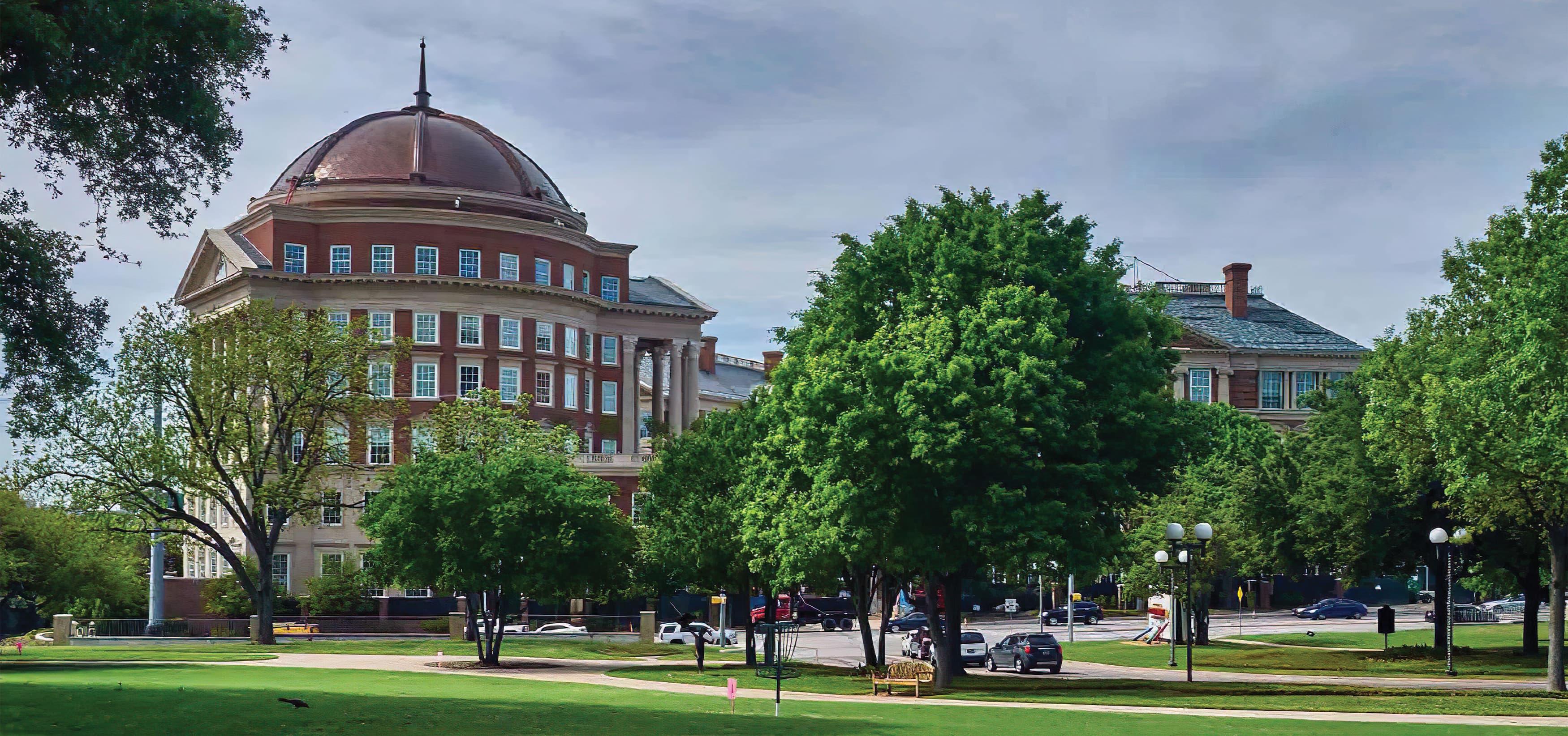 Old Parkland Campus in Dallas, Texas. Neo-Classical Architecture.
