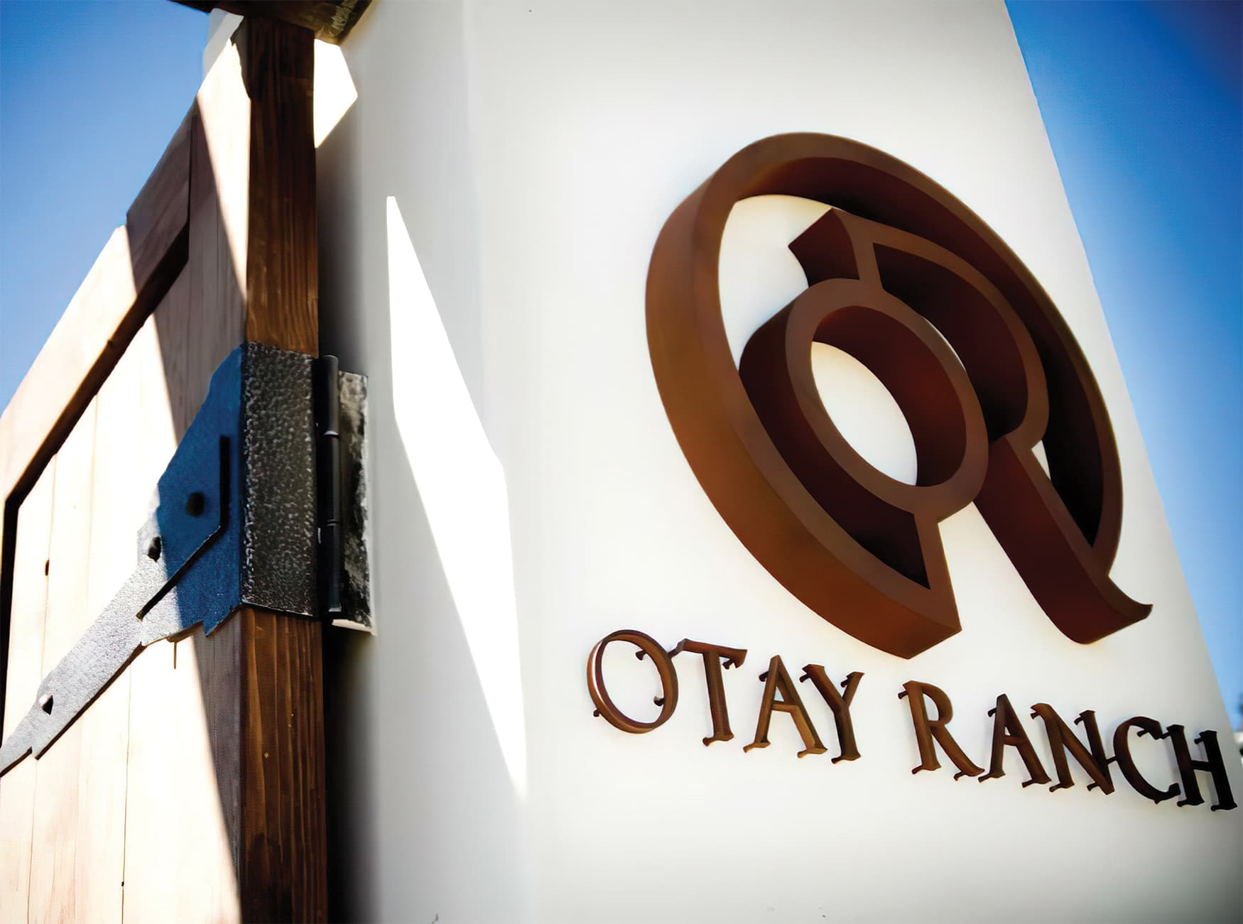 Otay Ranch, an outdoor retail development. Project Identity Signage.