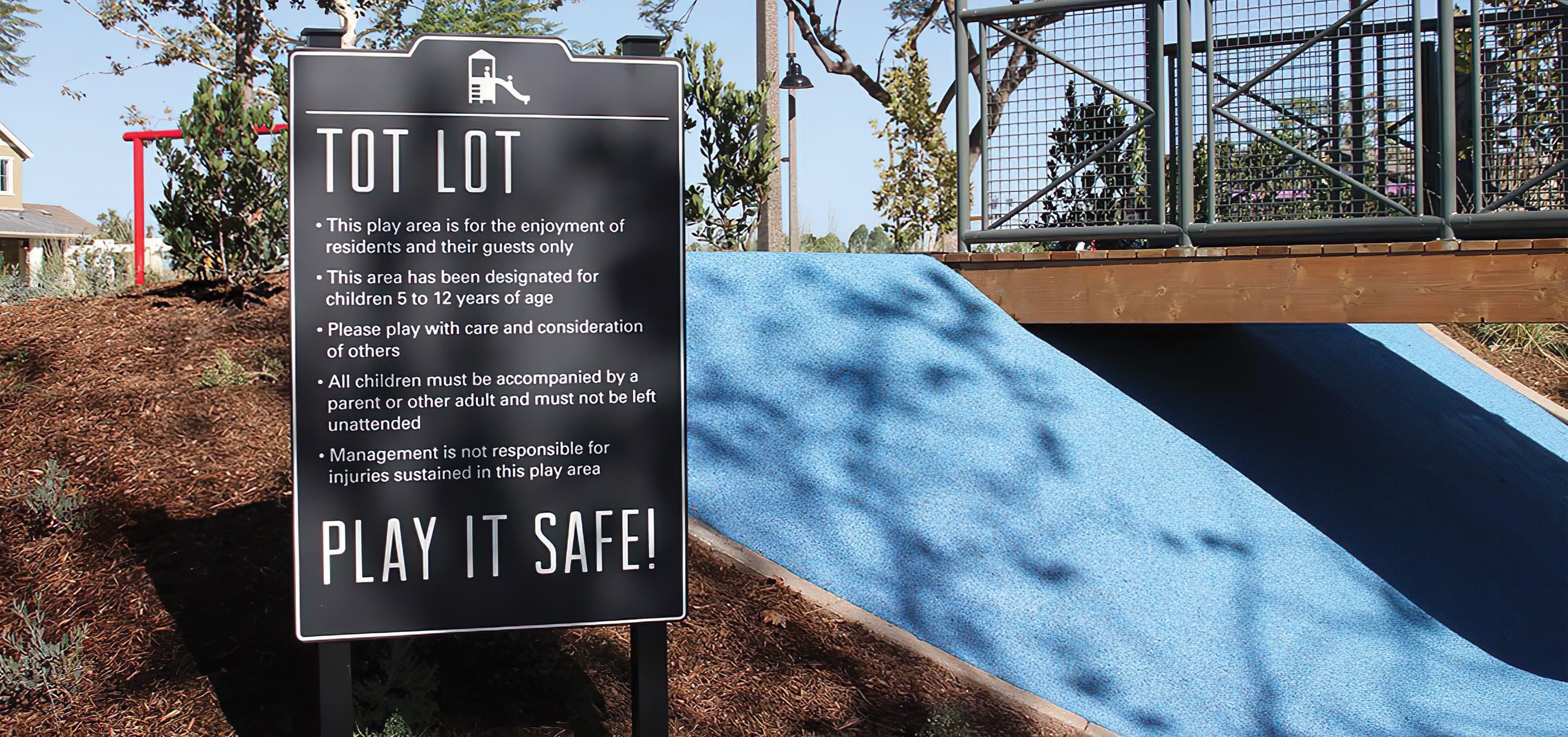 Pavilion Park. Irvine Great Park. Residential Community Park Design. Park Rules Signage.