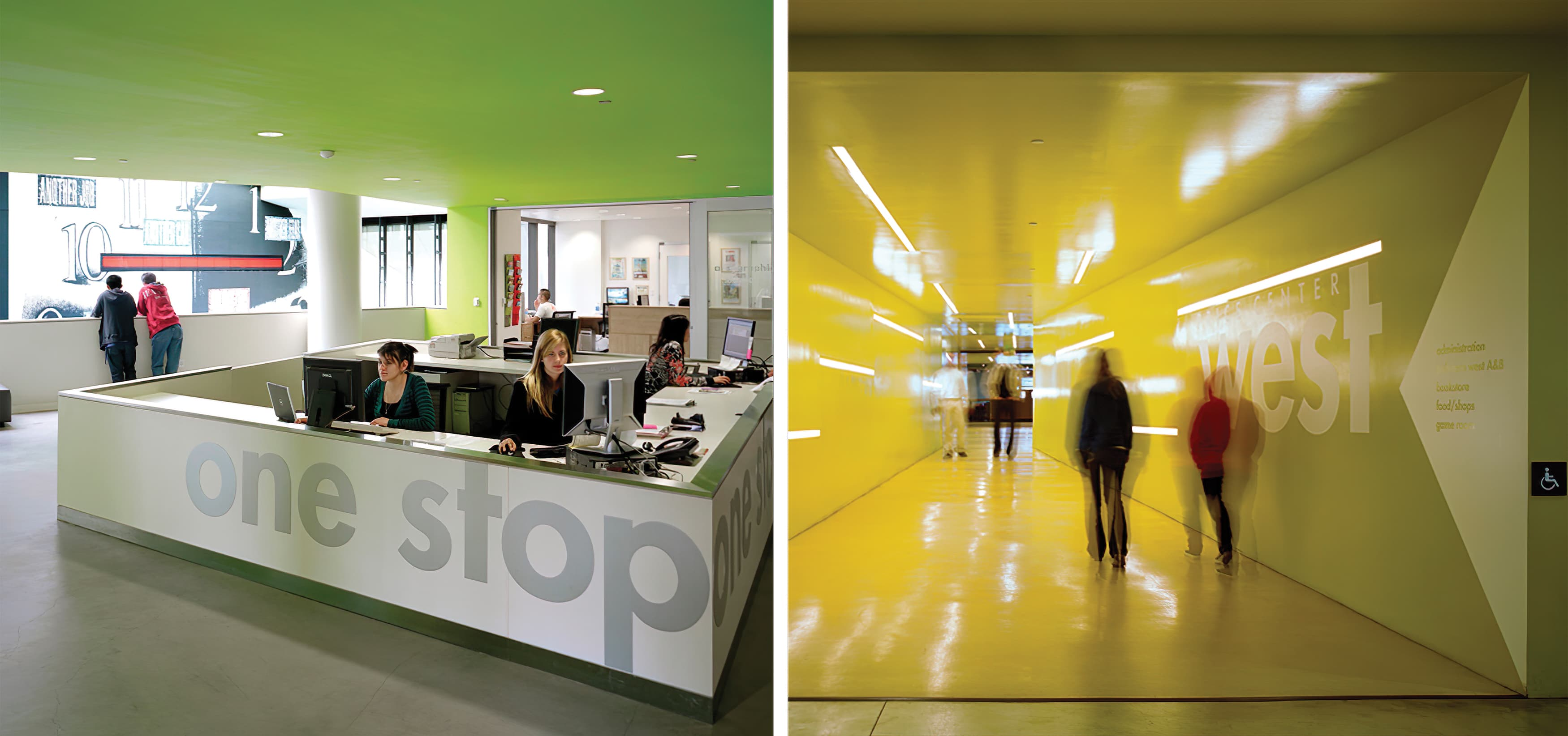 The Price Center, at the University of California, San Diego. Education Design. Workplace Design. Environmental Graphic Design.