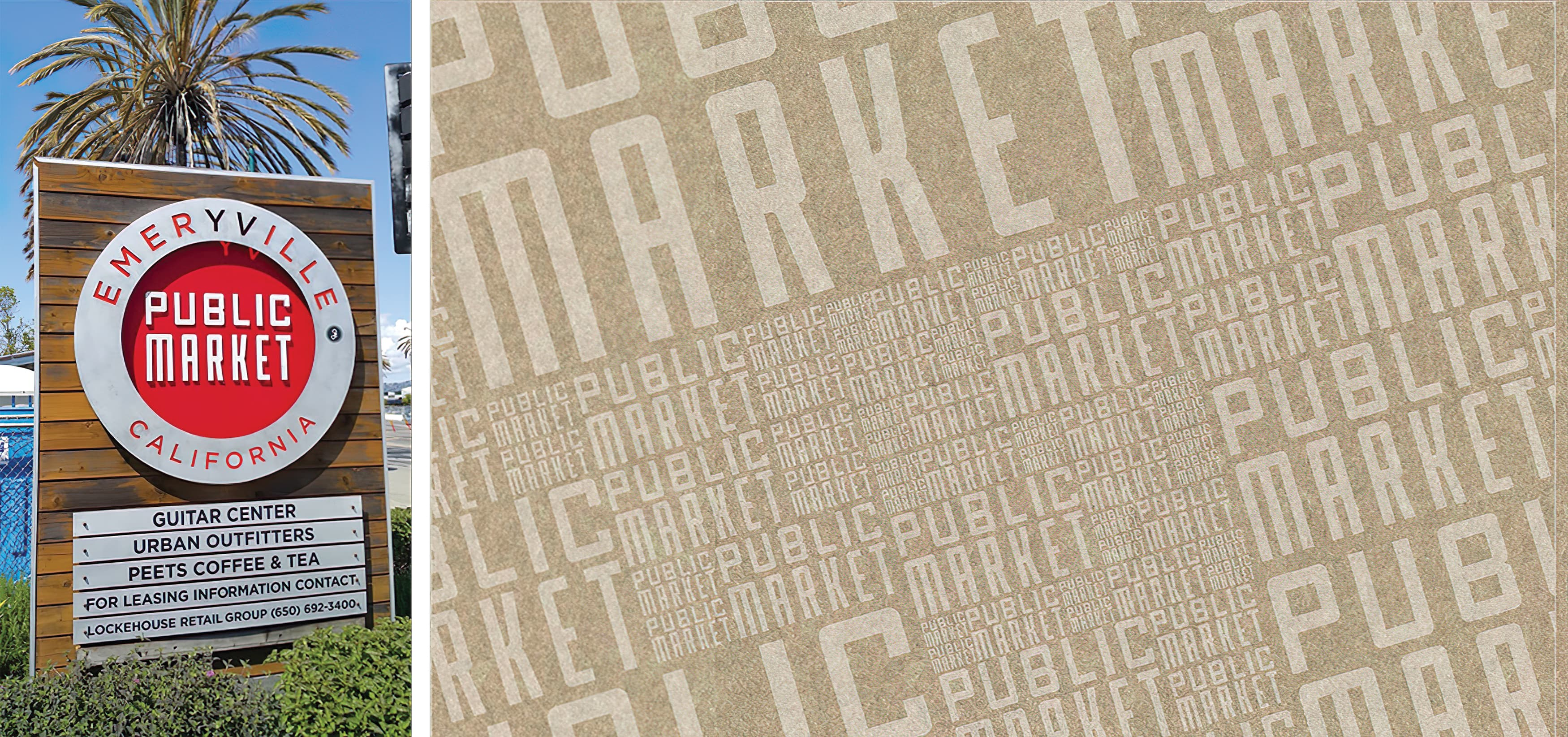 RSM Design worked with TMG Partners to develop signage and wayfinding program for Public Market, a dining and shopping center in San Francisco, California. Project Identity Signage.