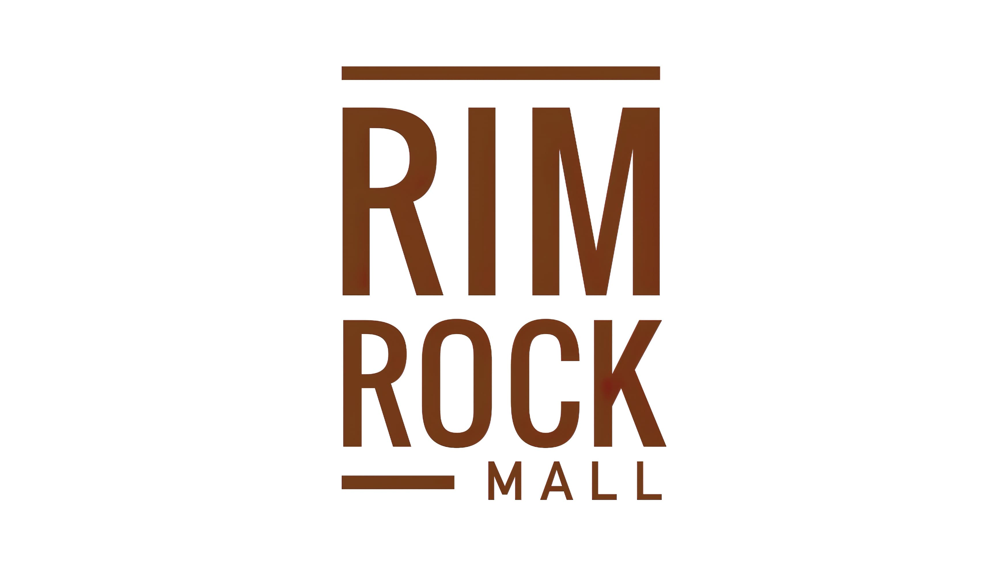 red-brown colored Rim Rock logo designed by RSM Design