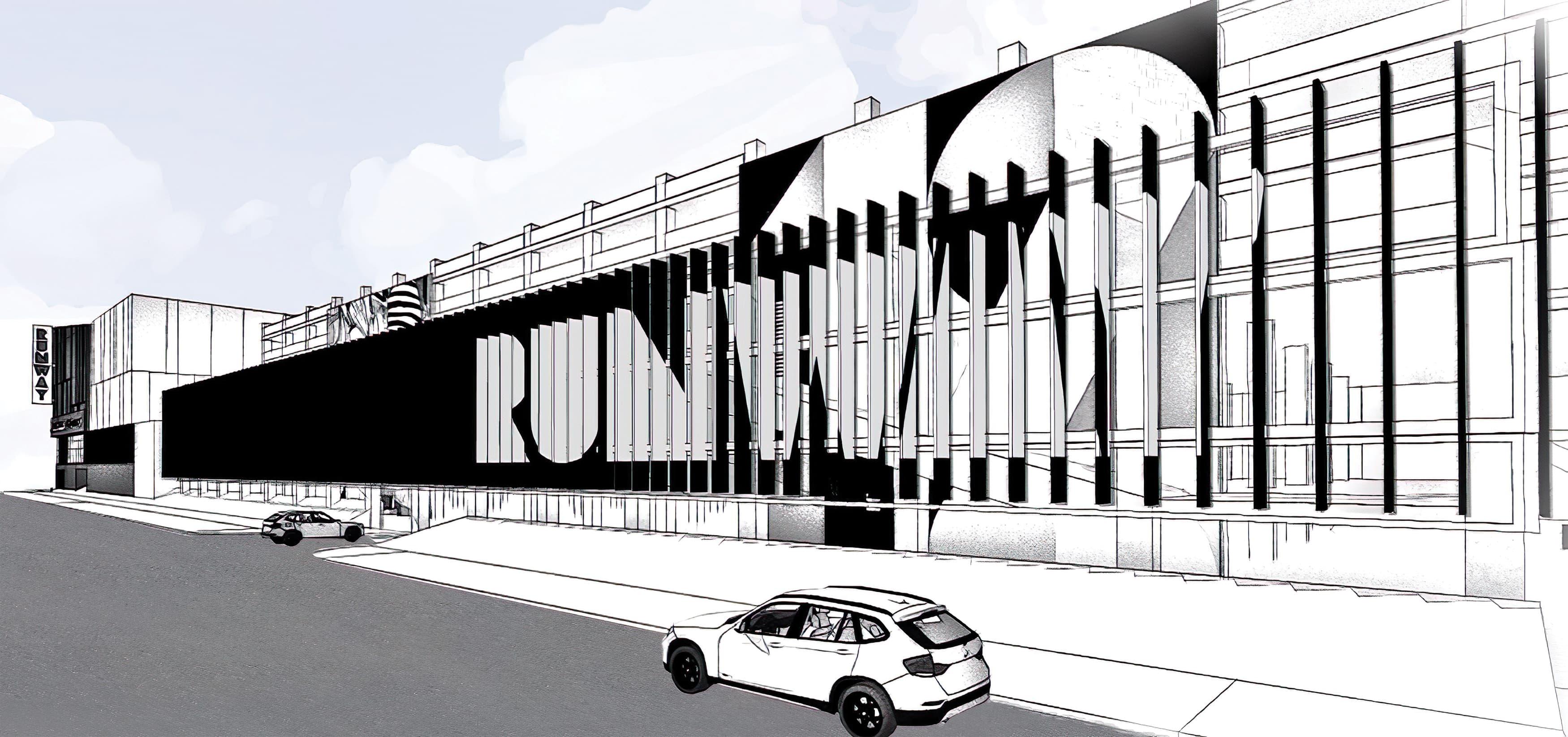RSM Design worked to prepare Public Art, Murals, Environmental Graphic Design, and Wayfinding Signage for Runway Playa Vista, a retail development in Playa Vista, Los Angeles, California.