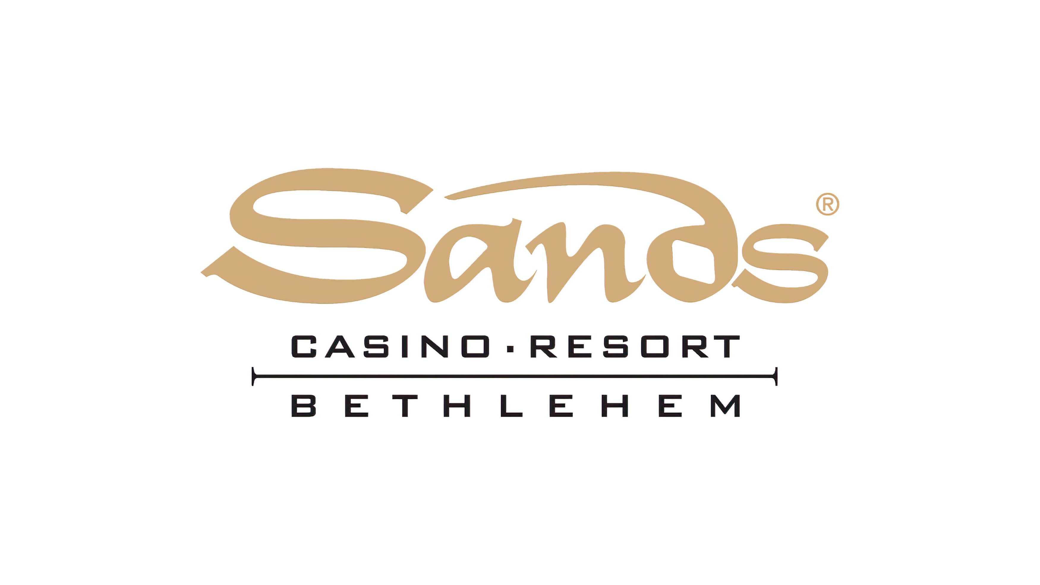 The design created for Sands Casino Resort featuring a golden colored brand logo