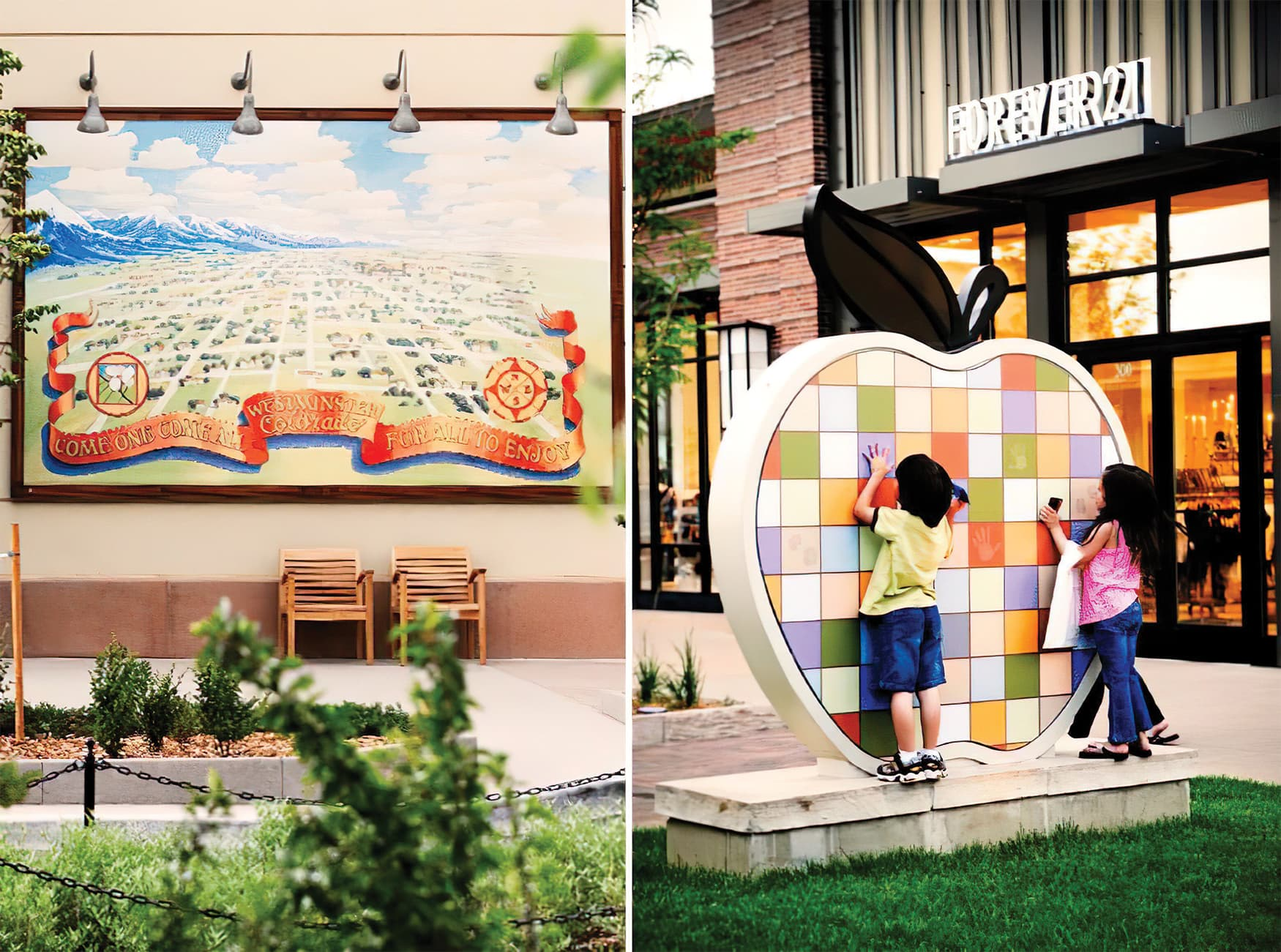 RSM Design worked to create a wayfinding system and Environmental Graphic Design program for The Orchard, a mixed-use retail project in Westminster, Colorado.