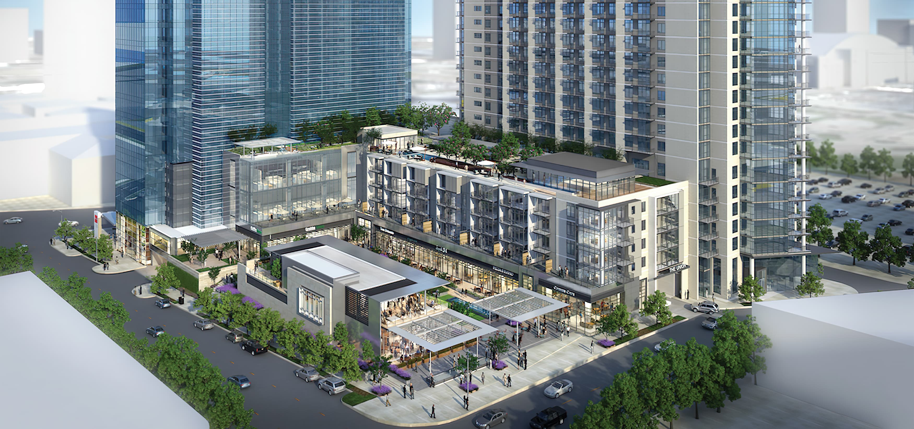The Union, a mixed-use development with office space and residential space.