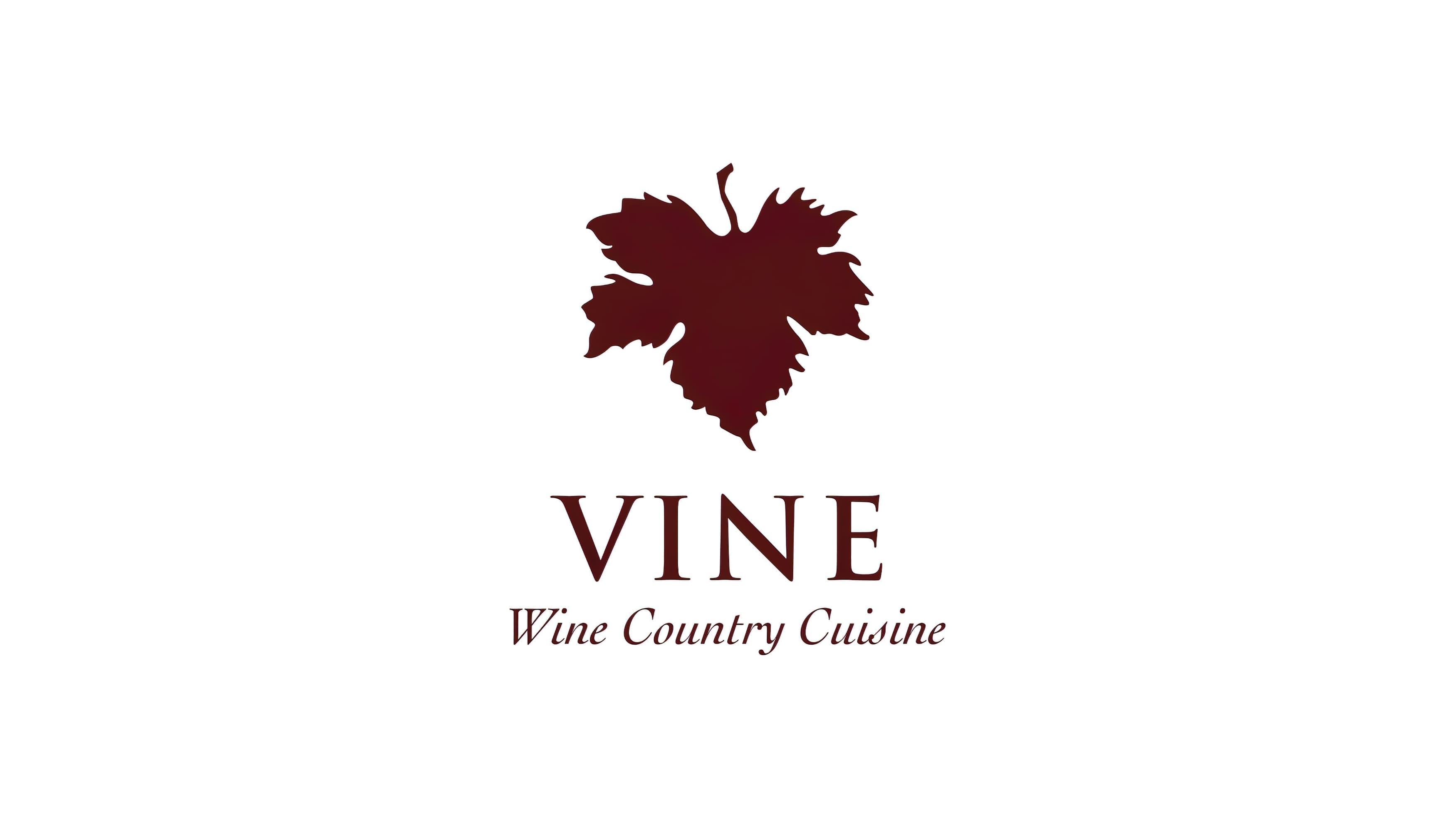Logo design for The Vine featuring a distinctive leaf mark.