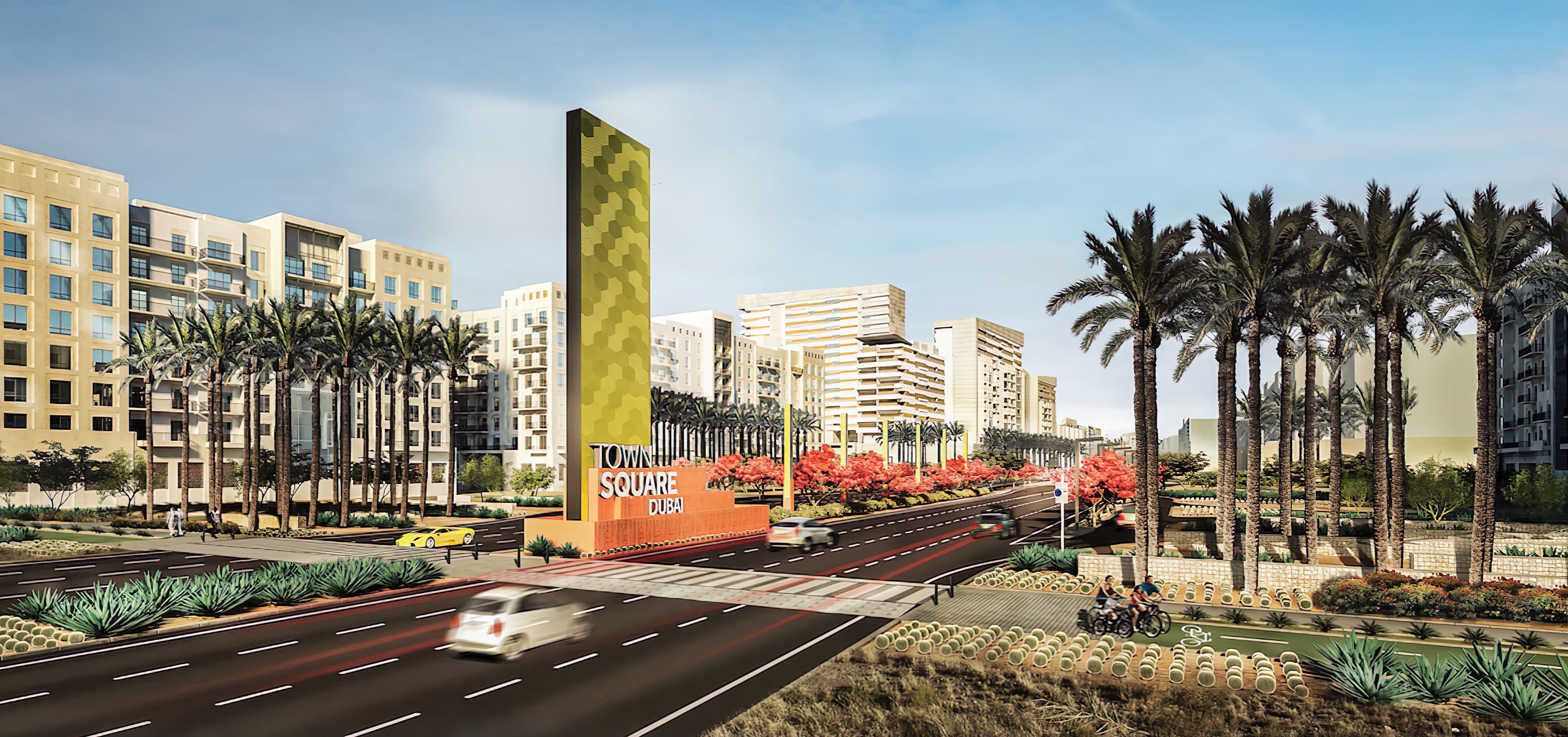 RSM Design prepared a system of signage and wayfinding for Town Square Dubai, a mixed-use development.