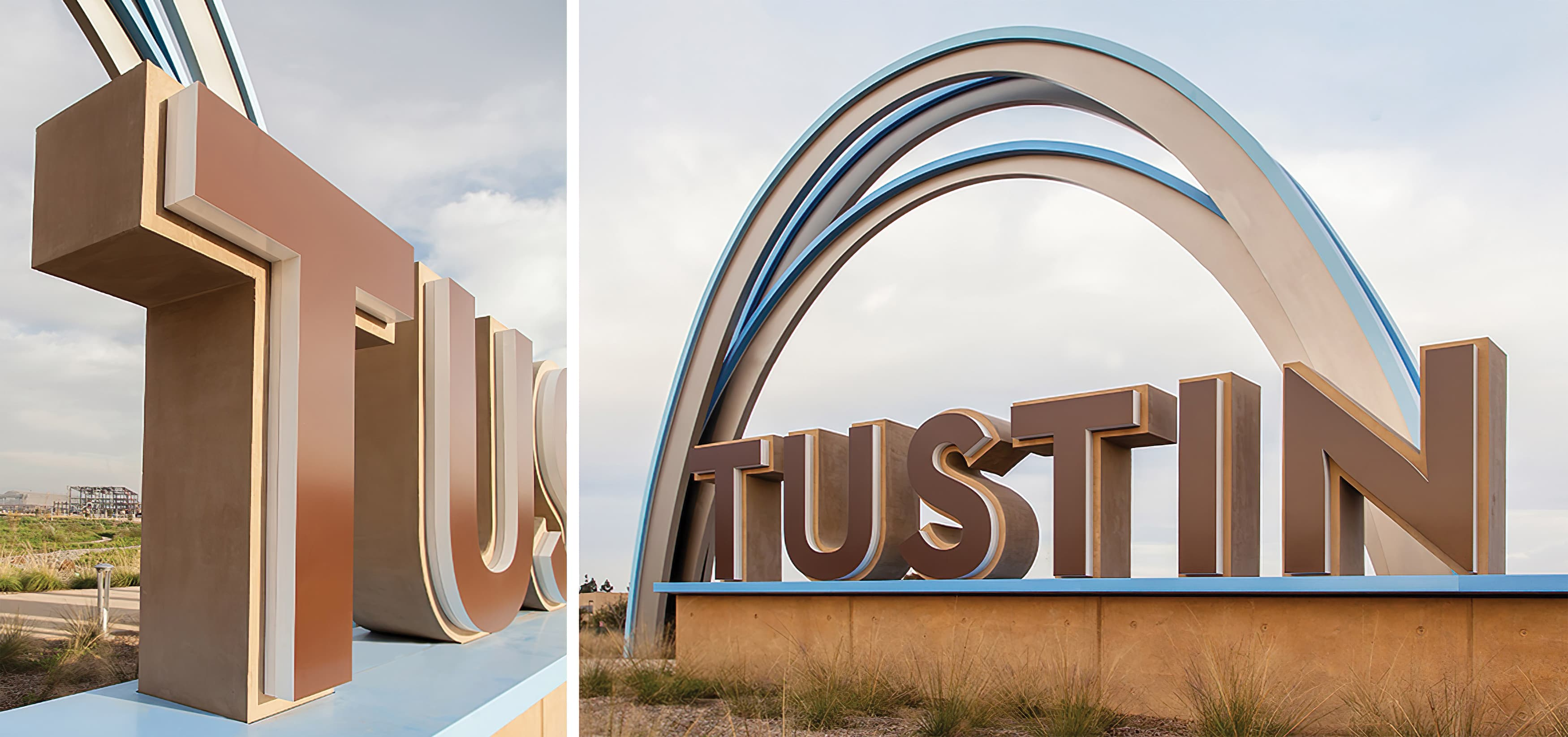 Tustin Legacy, a residential neighborhood in Tustin, California, Project Identity Monument with Iconic Arch