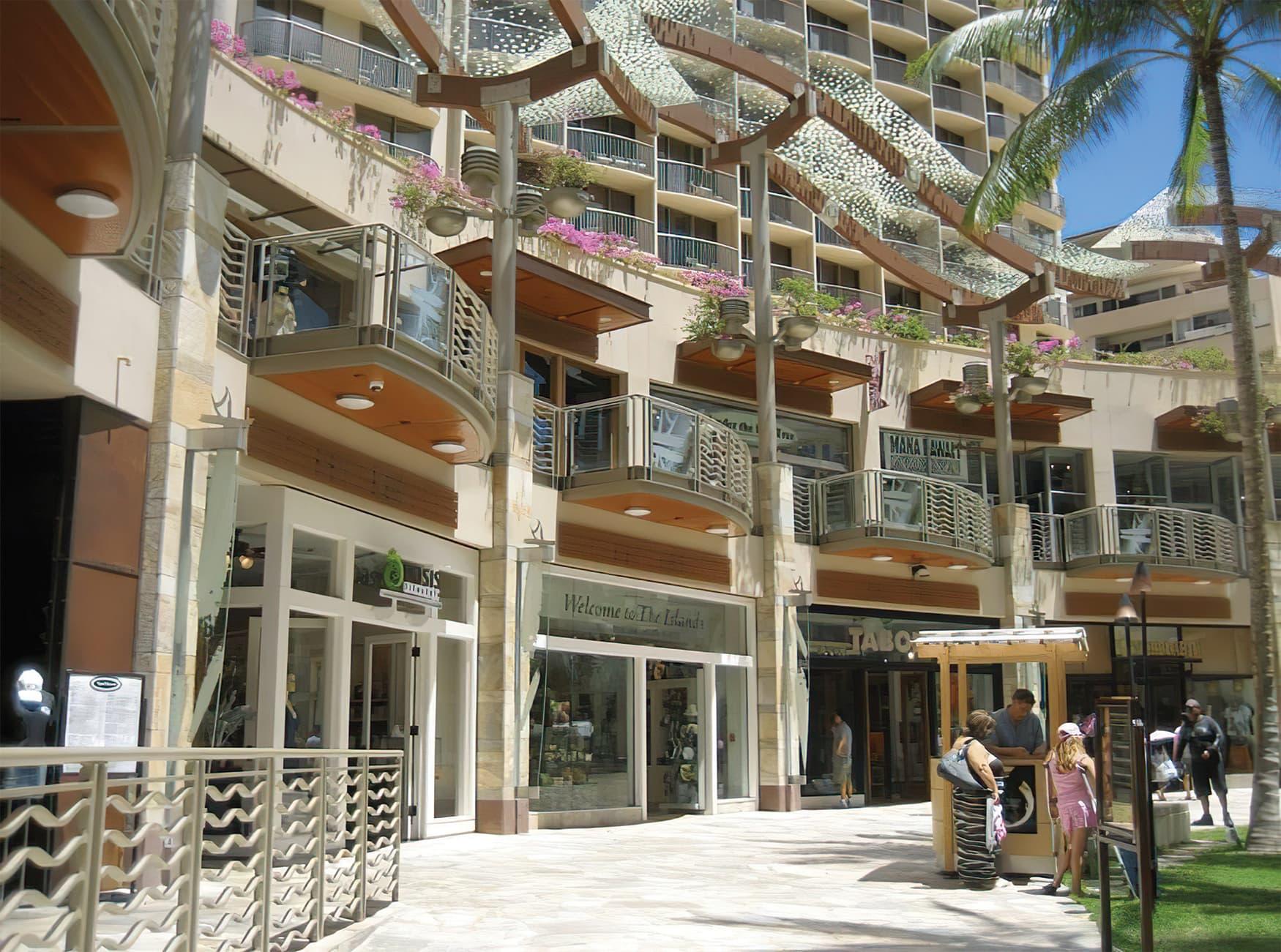 Waikiki Beach Walk. Public Art and Mural Design. Environmental Graphic Design.