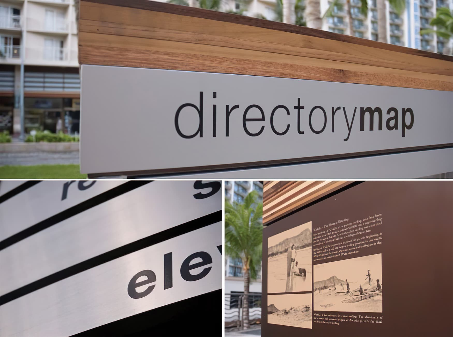 Waikiki Beach Walk. Public Art and Mural Design. Environmental Graphic Design. Directory Wayfinding Design.