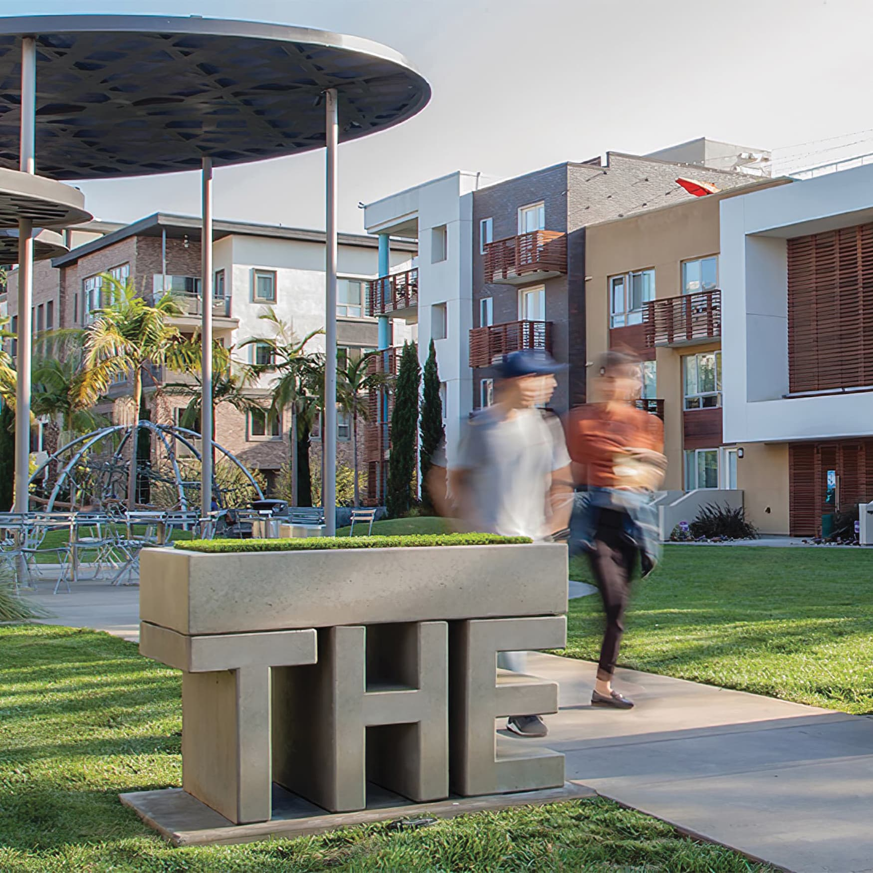 Placemaking identity for The Lawn located in Playa Vista Parks
