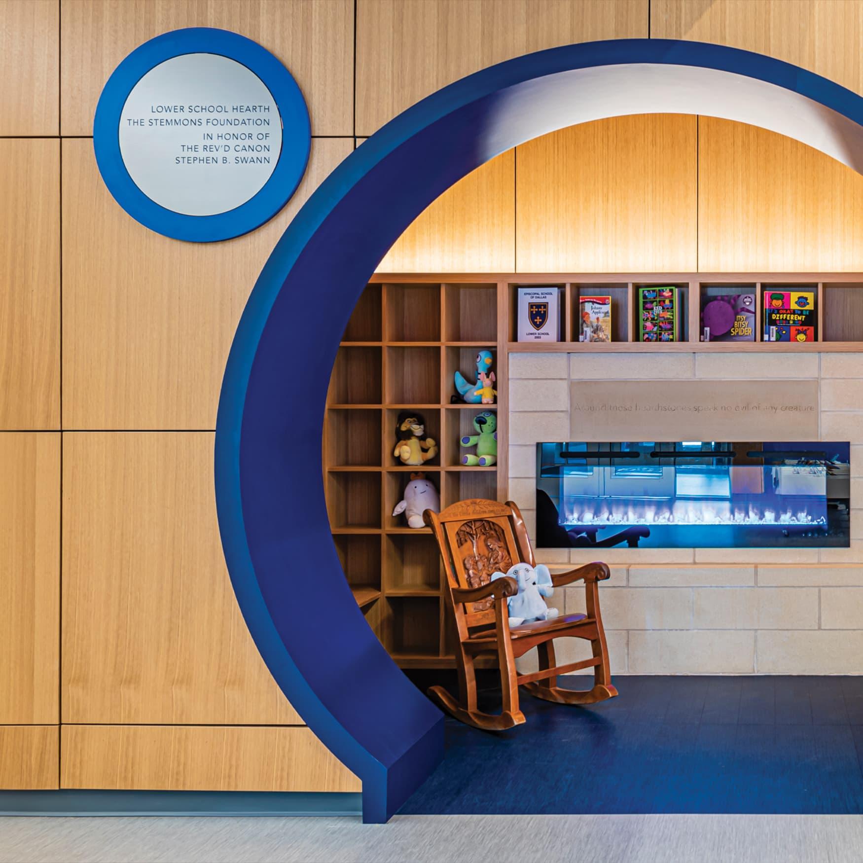 Children's medical center signage and interior design details