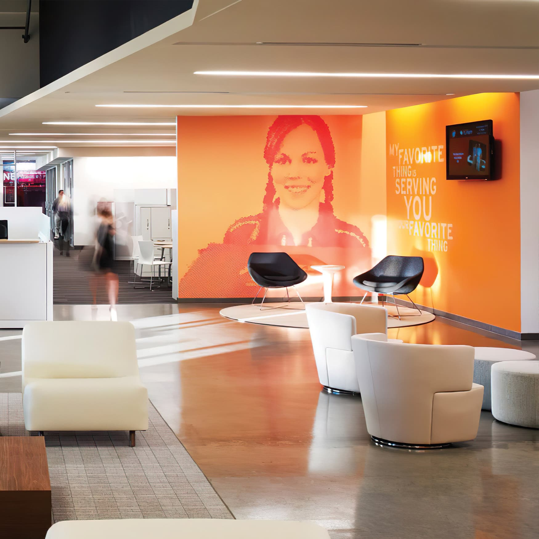 Pizza Hut corporate headquarters interior specialty graphics