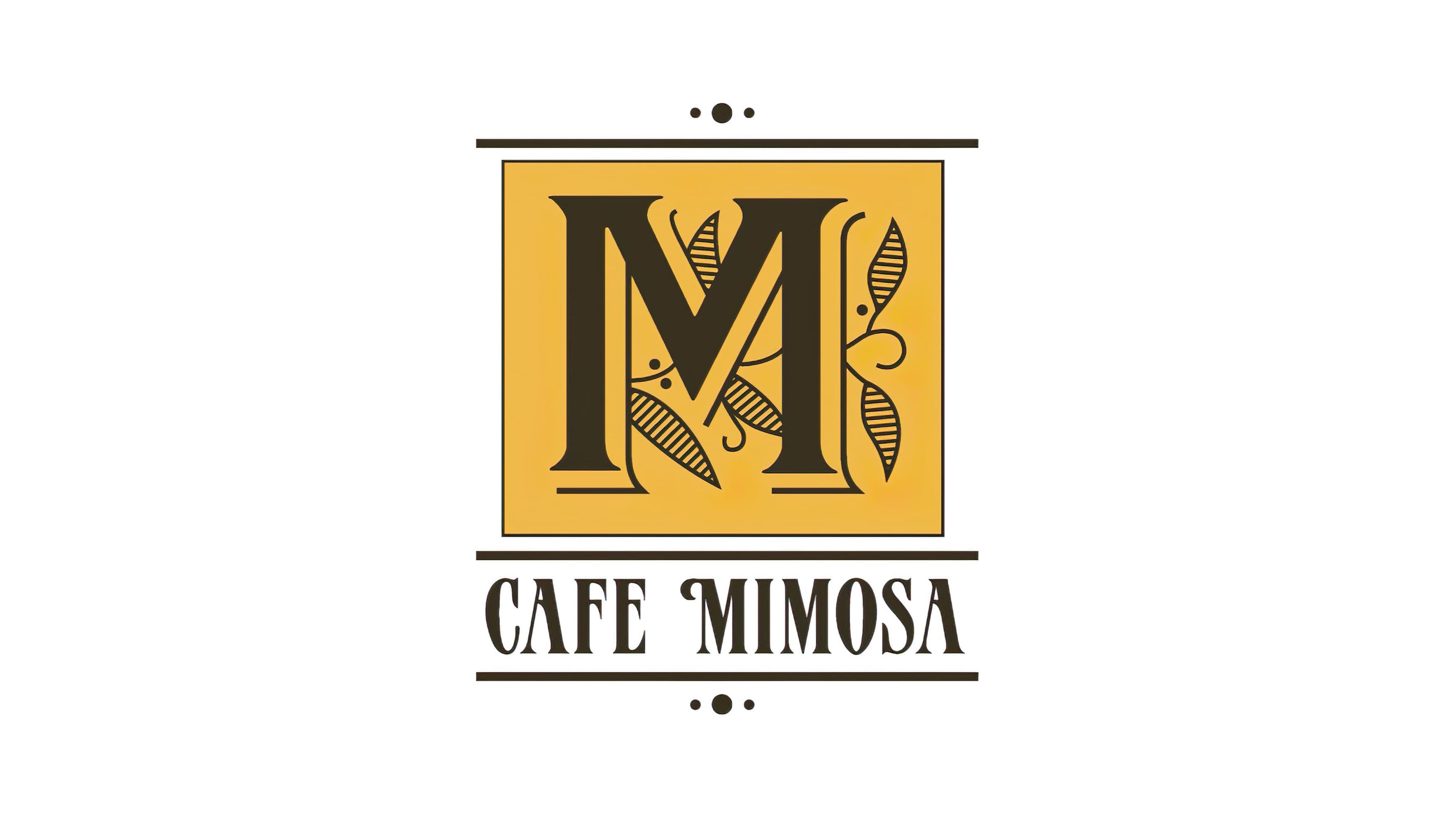 The Cafe Mimosa brand logo mark designed by RSSM Design