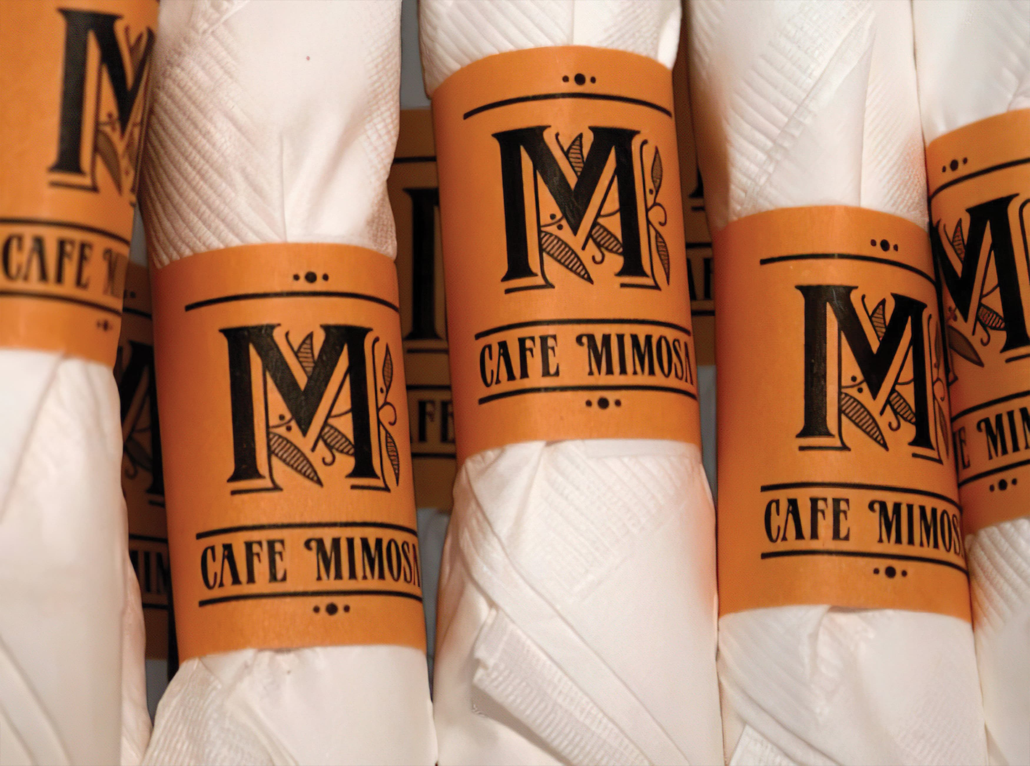 Cafe Mimosa, San Clemente. Restaurant Branding and Logo Design.