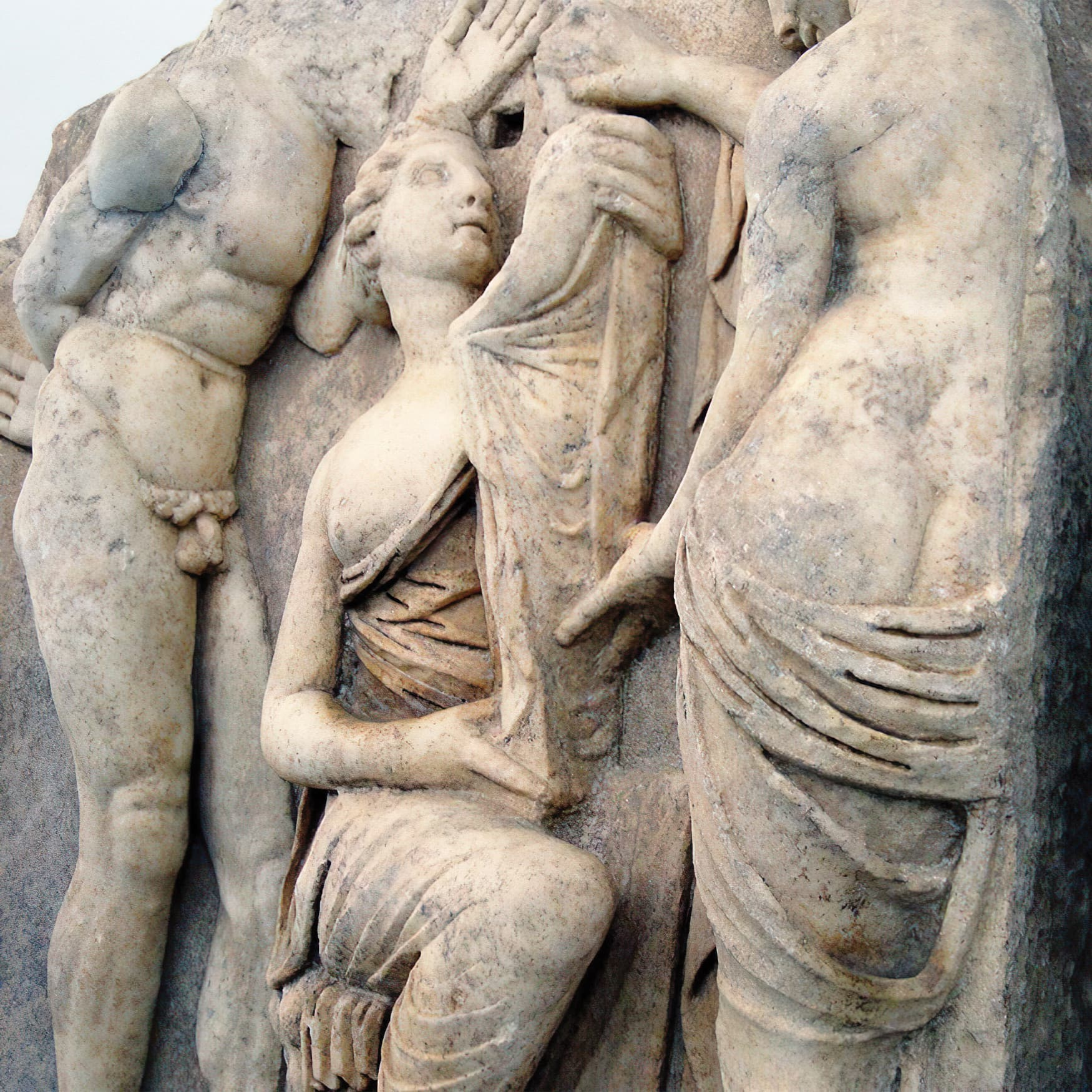 Graeco-Roman archaeological stele located in the eastern Mediterranean.