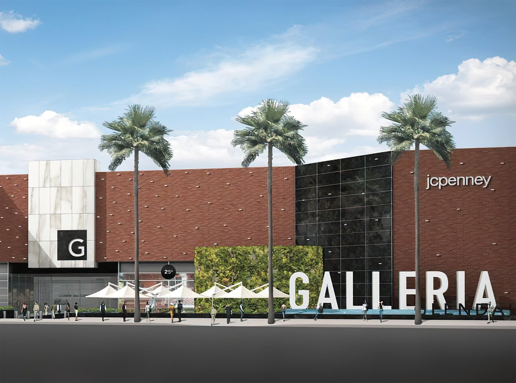 Glendale Galleria. A retail destination in Glendale, California. Project Facade Identity Signage and Sculptural Identity.