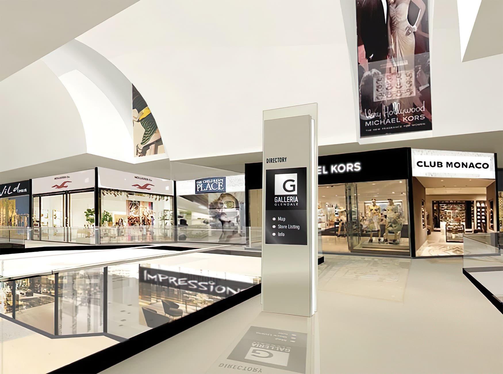 Glendale Galleria. A retail destination in Glendale, California. Project Directory Design.