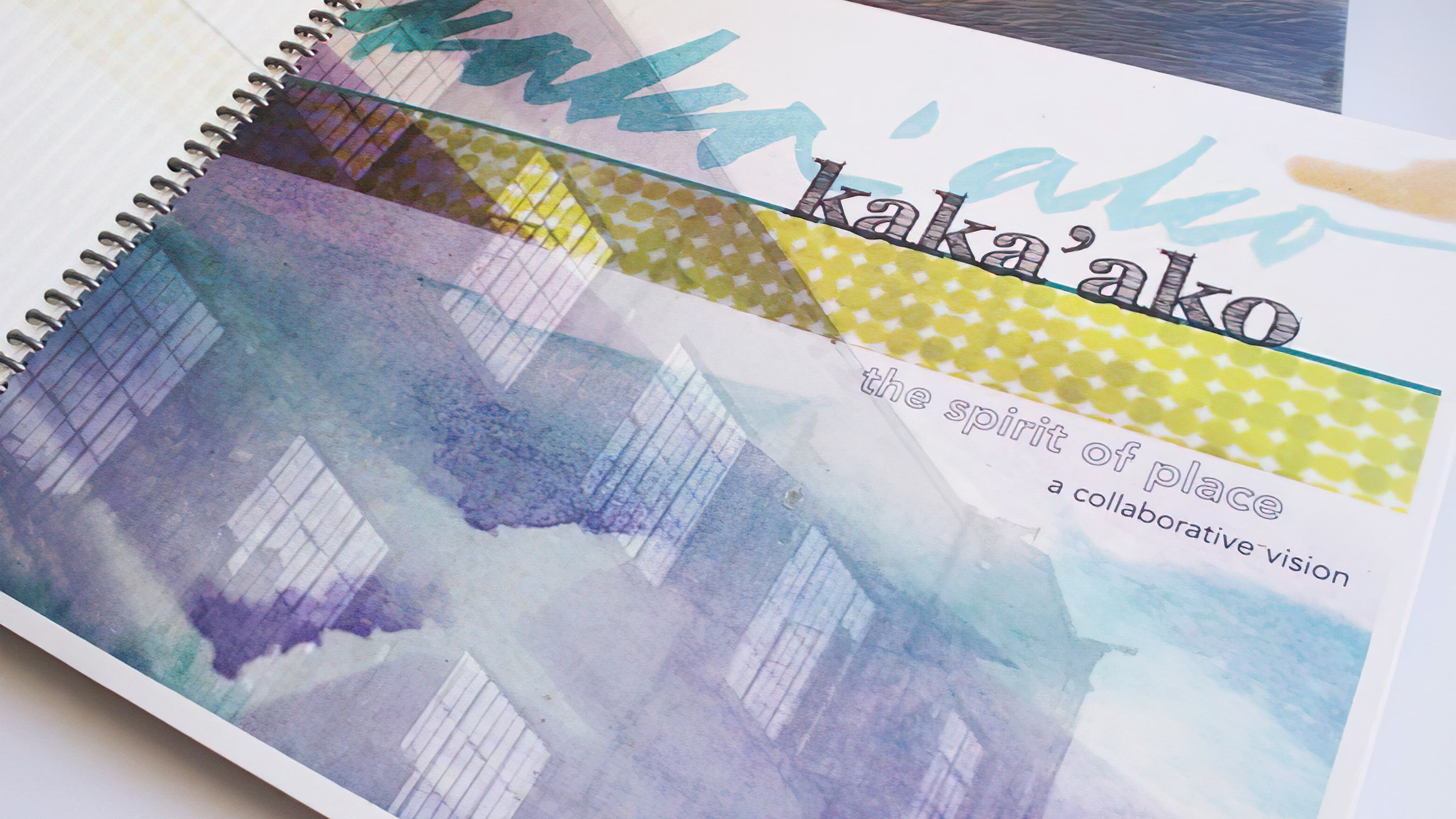 Kaka'ako brand positioning bookley with watercolor-style artwork