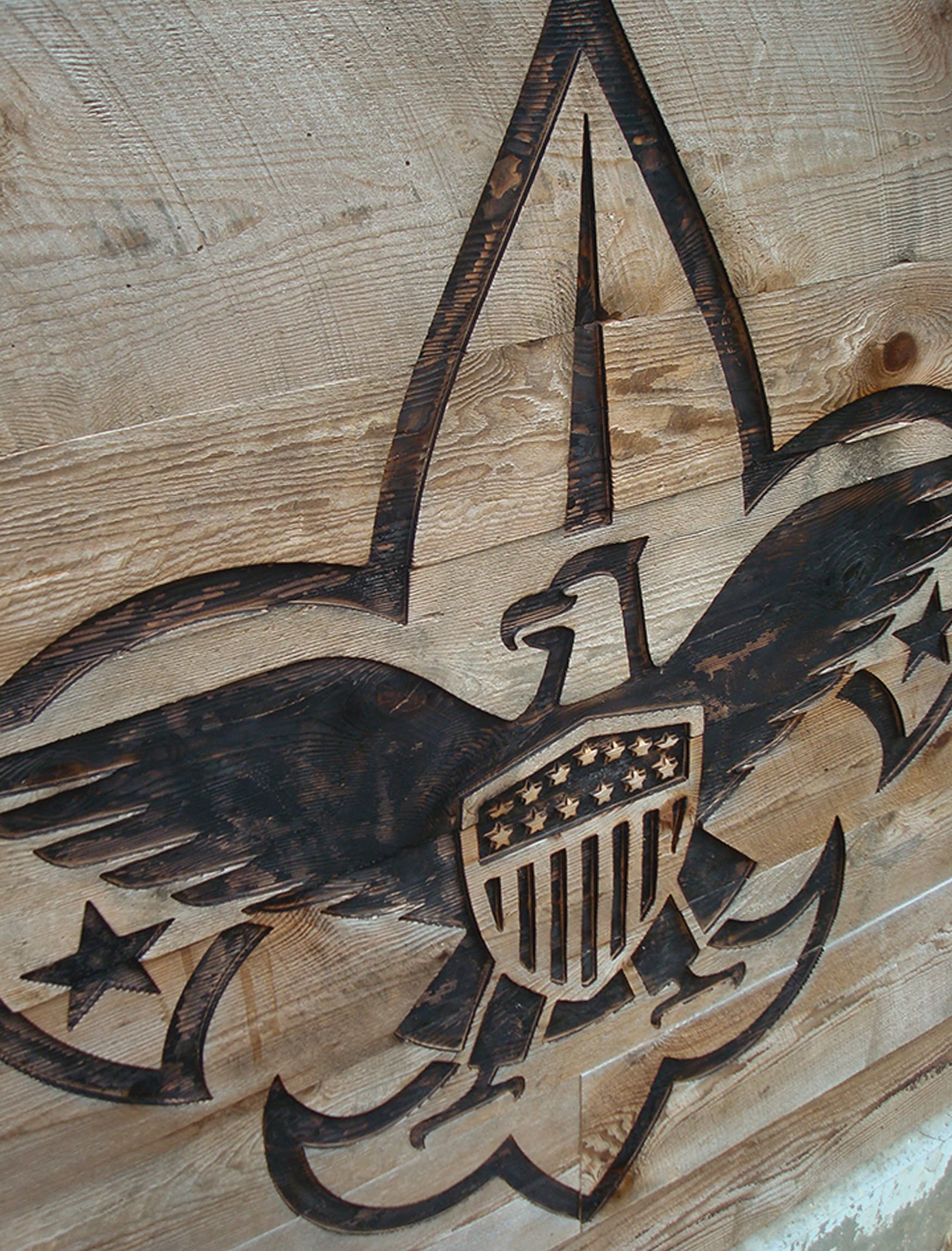 Boy Scouts of America, The Summit Bechtel Reserve wood burn crest design