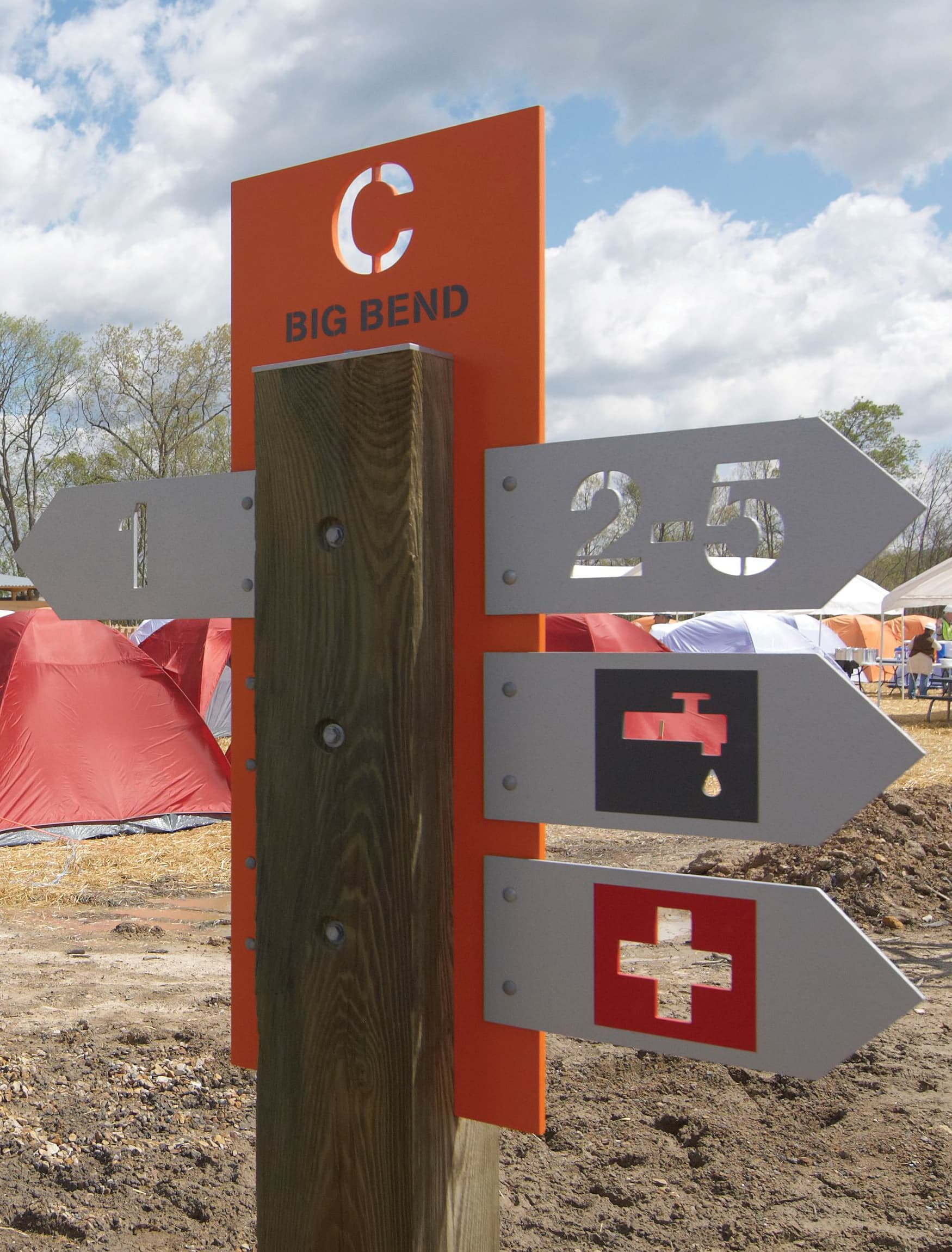Boy Scouts of America, The Summit Bechtel Reserve campsite identity and wayfinding design