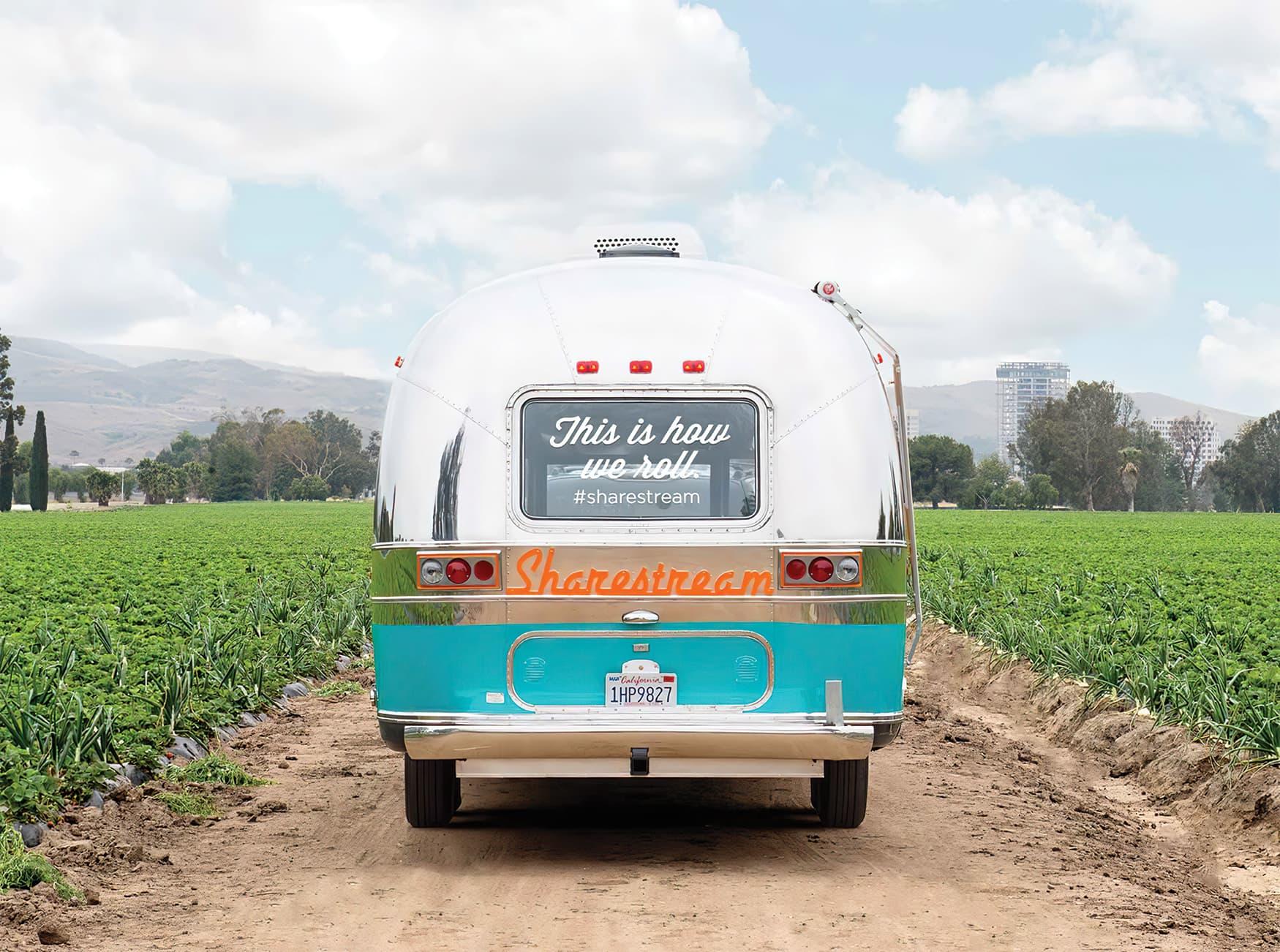 Great Park Neighborhood viral marketing branded airstream trailer