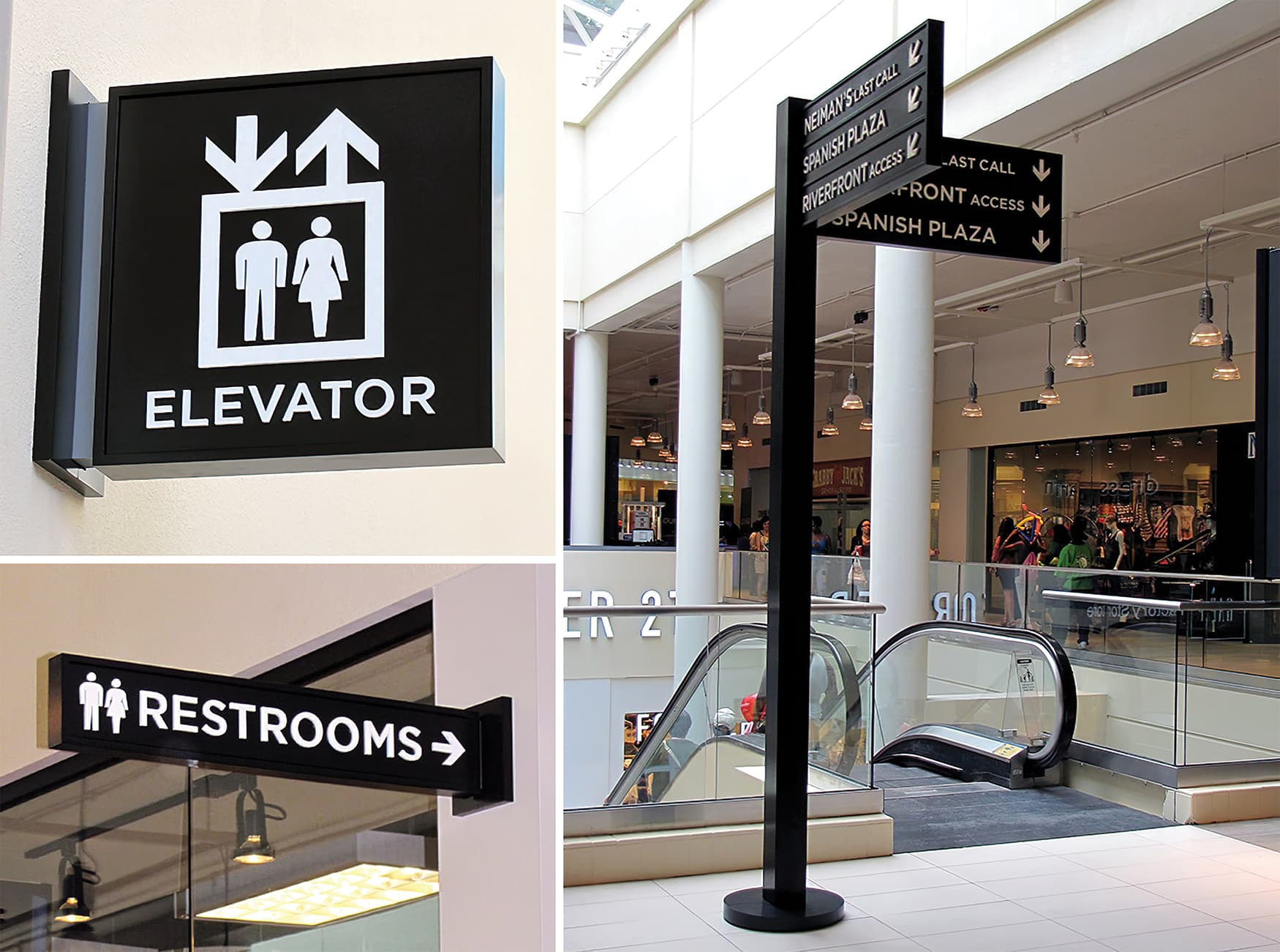 The Outlet Collection at Riverwalk. Retail Wayfinding Design.