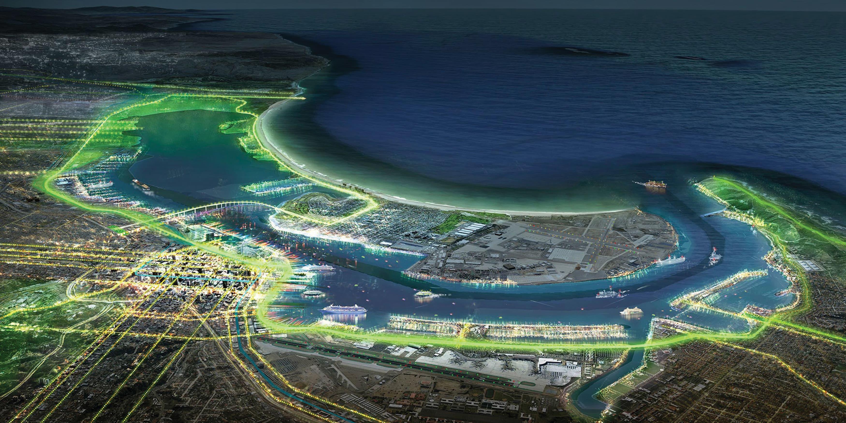 Port of San Diego aerial render Waterfront Design
