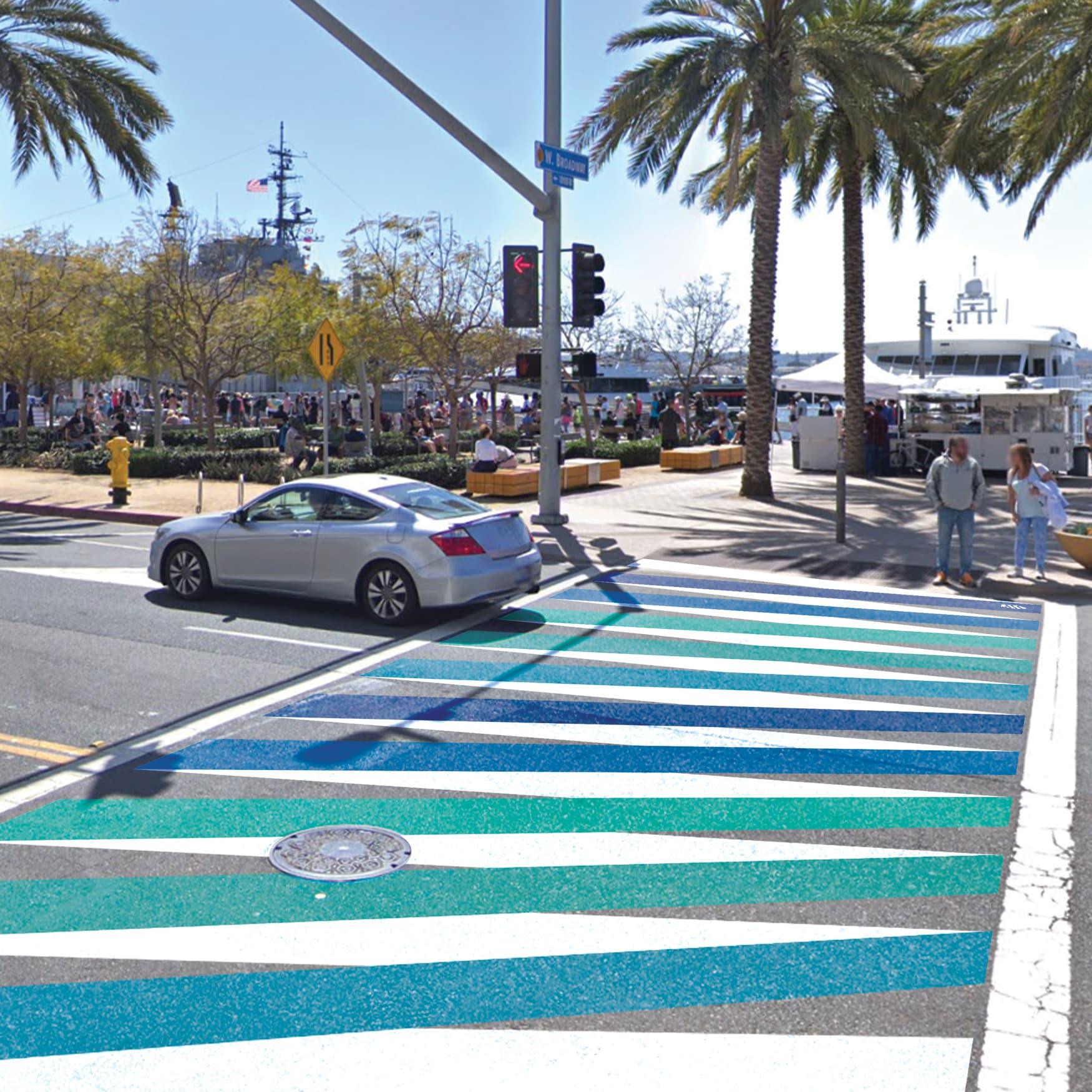 Port of San Diego crosswalk graphic design